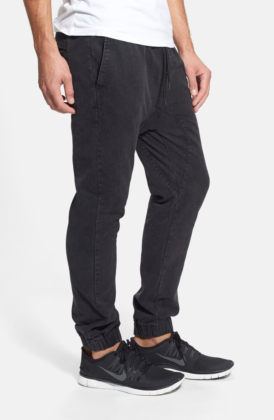 Jogger Chinos,                             Alternate thumbnail 3, color,                             001