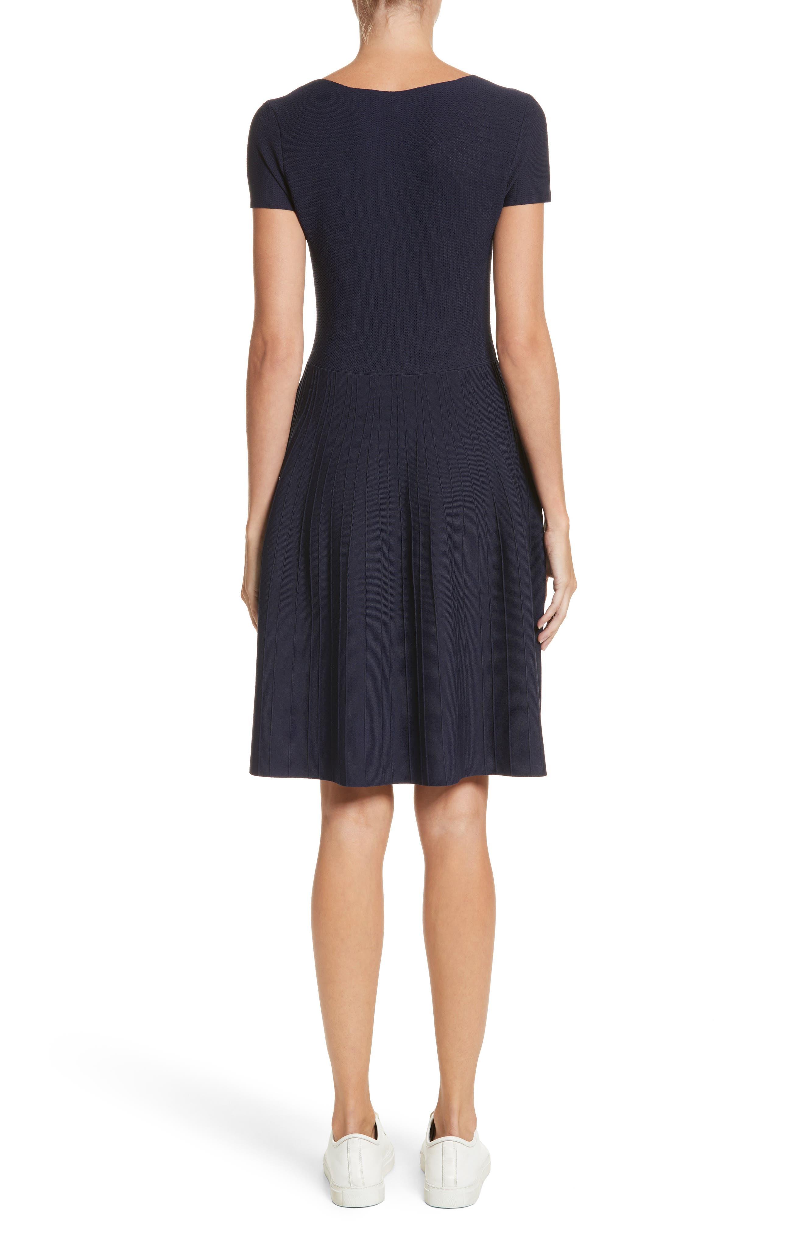 Knit Fit & Flare Dress,                             Alternate thumbnail 2, color,                             414