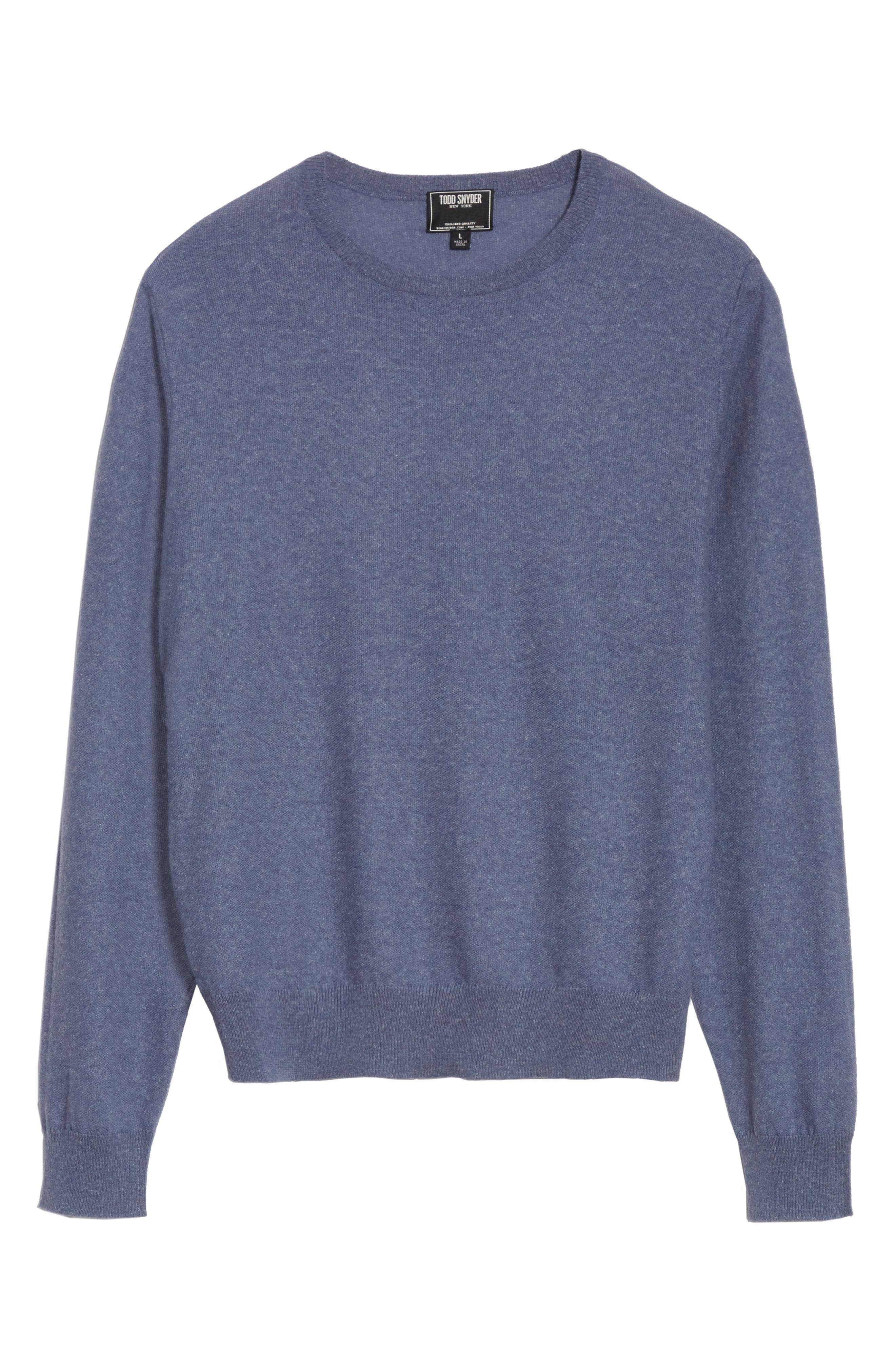 Cashmere & Linen Crewneck Sweater,                             Alternate thumbnail 6, color,                             475