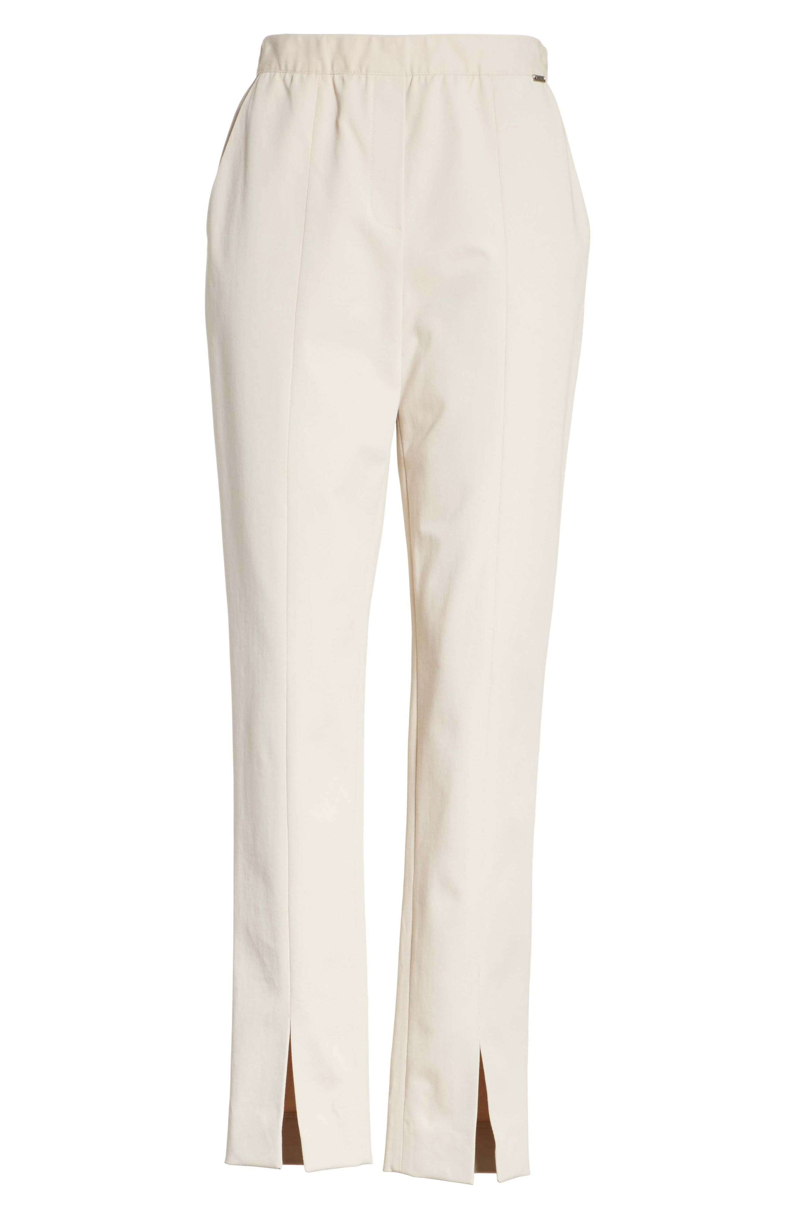 Fine Stretch Twill Pants,                             Alternate thumbnail 6, color,                             STONE