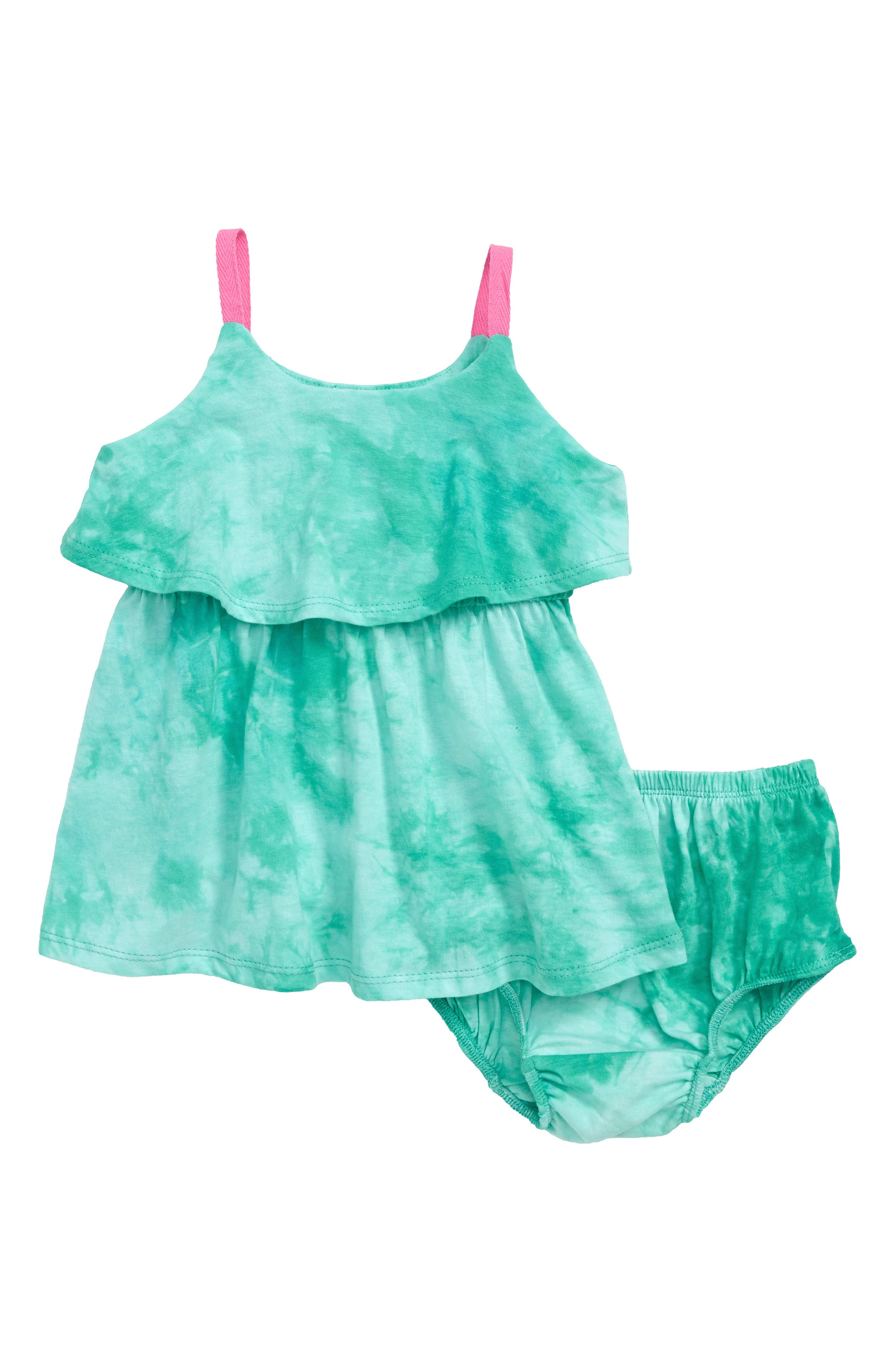 Tie Dye Popover Tank Dress,                             Main thumbnail 1, color,                             400