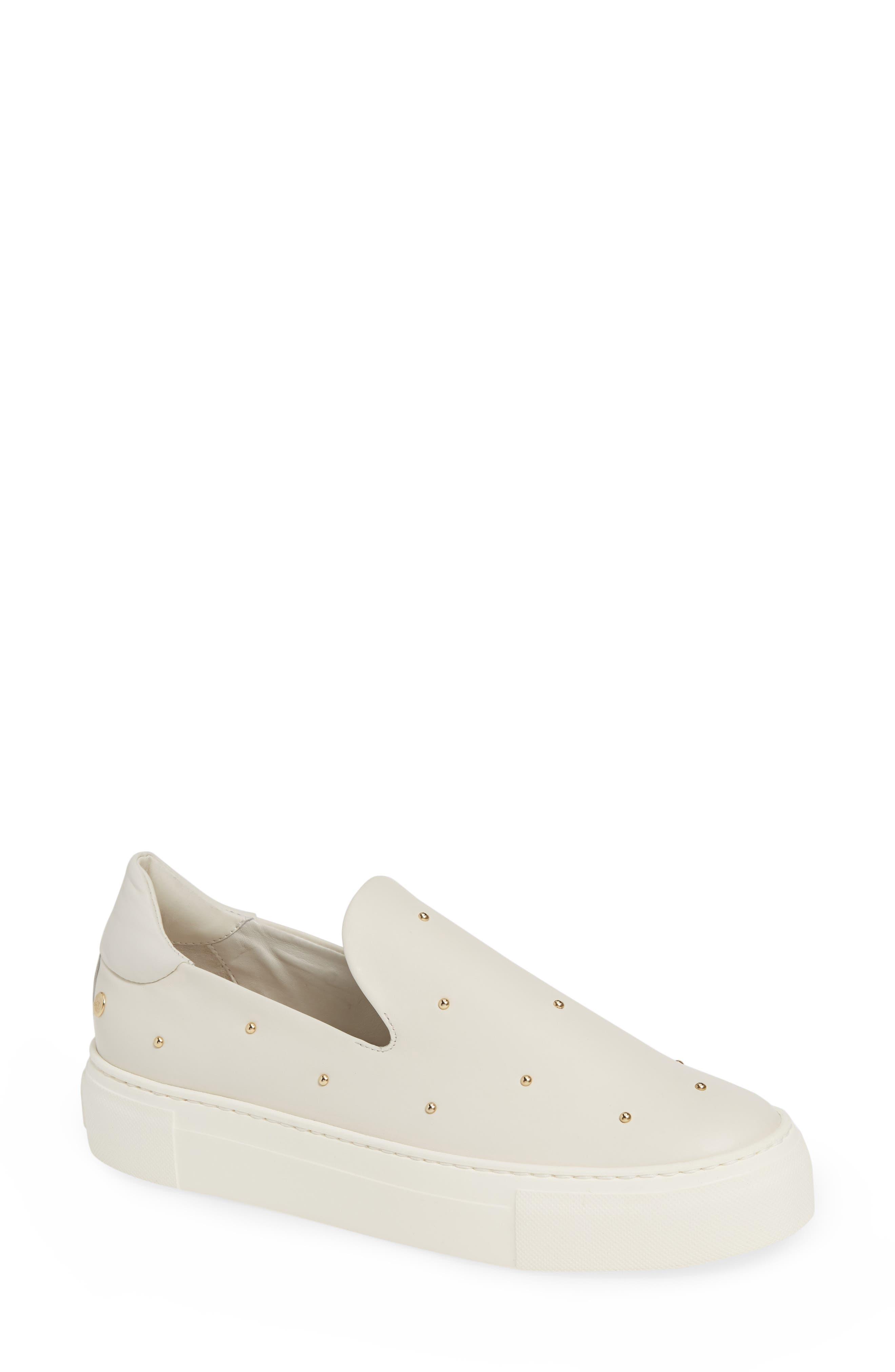 Agl Studded Slip-On Sneaker, White