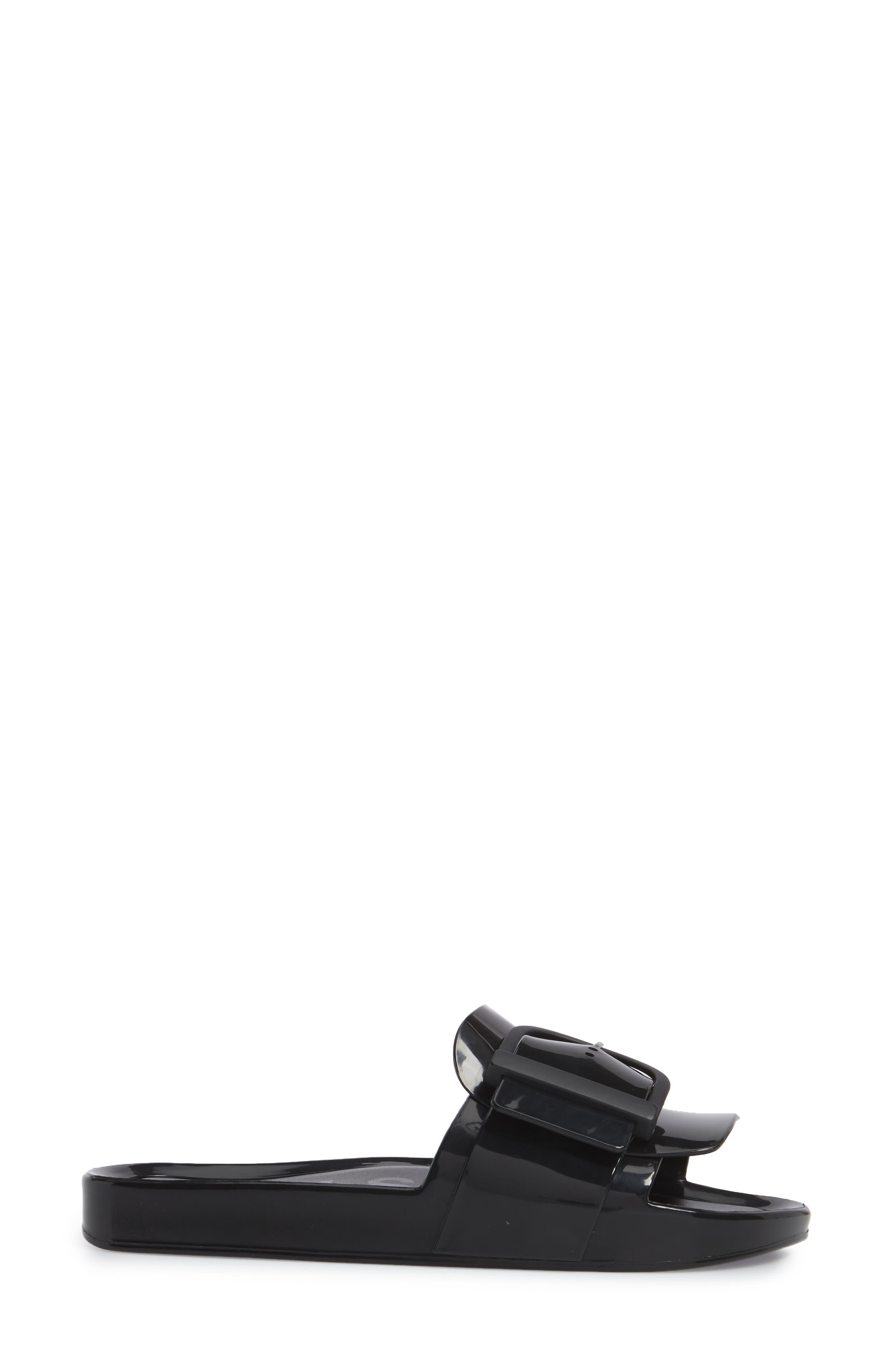Beach Slide Sandal,                             Alternate thumbnail 3, color,                             BLACK