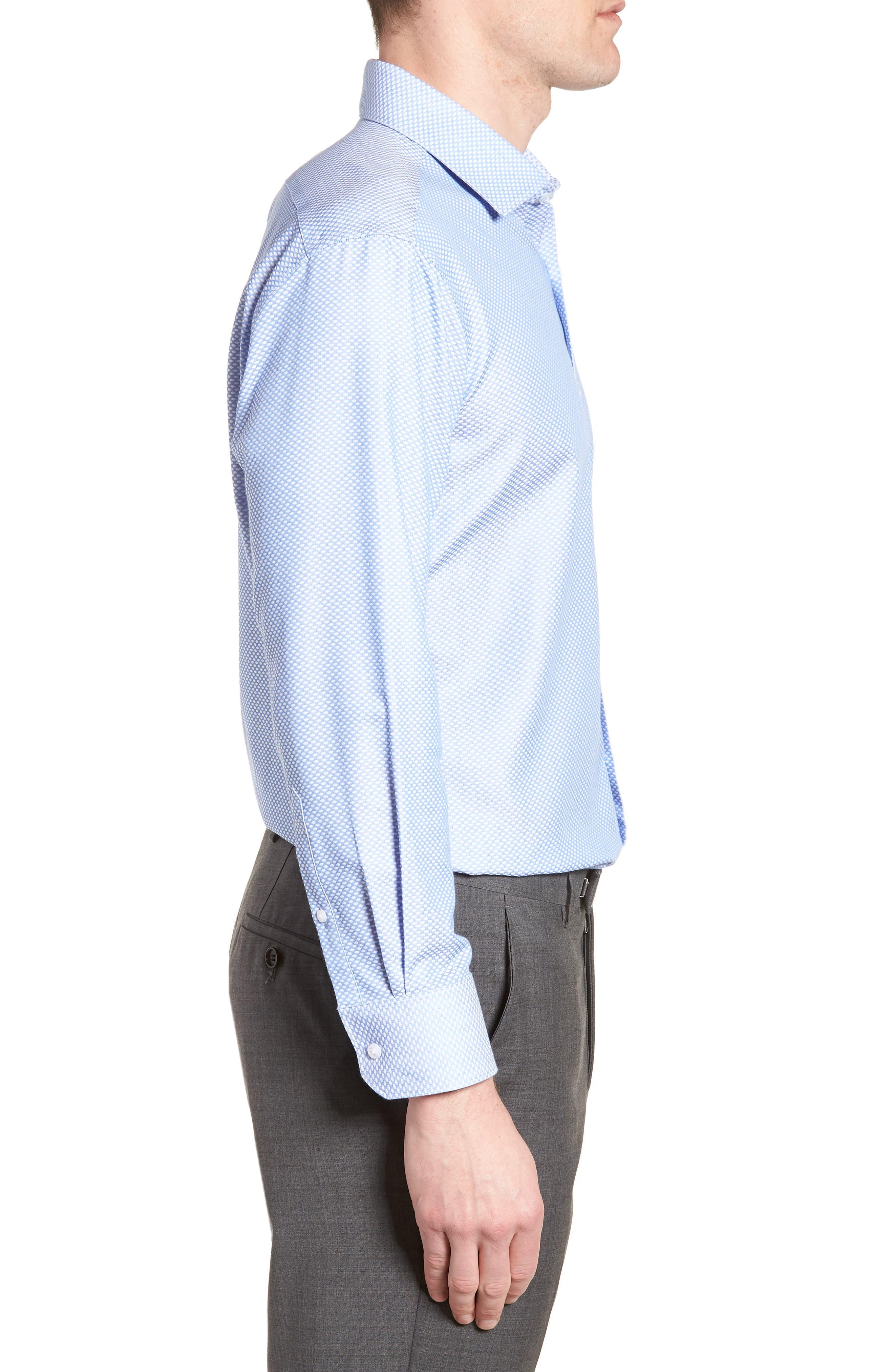 Holmes Trim Fit Dot Dress Shirt,                             Alternate thumbnail 4, color,                             450