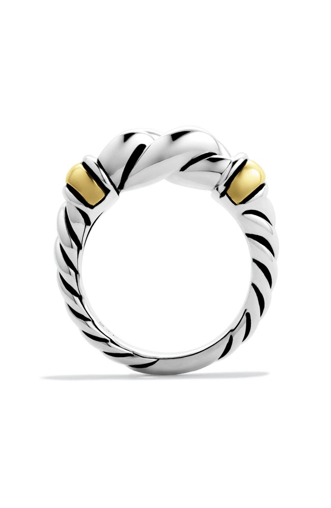 DAVID YURMAN,                             'Metro' Ring with Gold,                             Alternate thumbnail 5, color,                             040