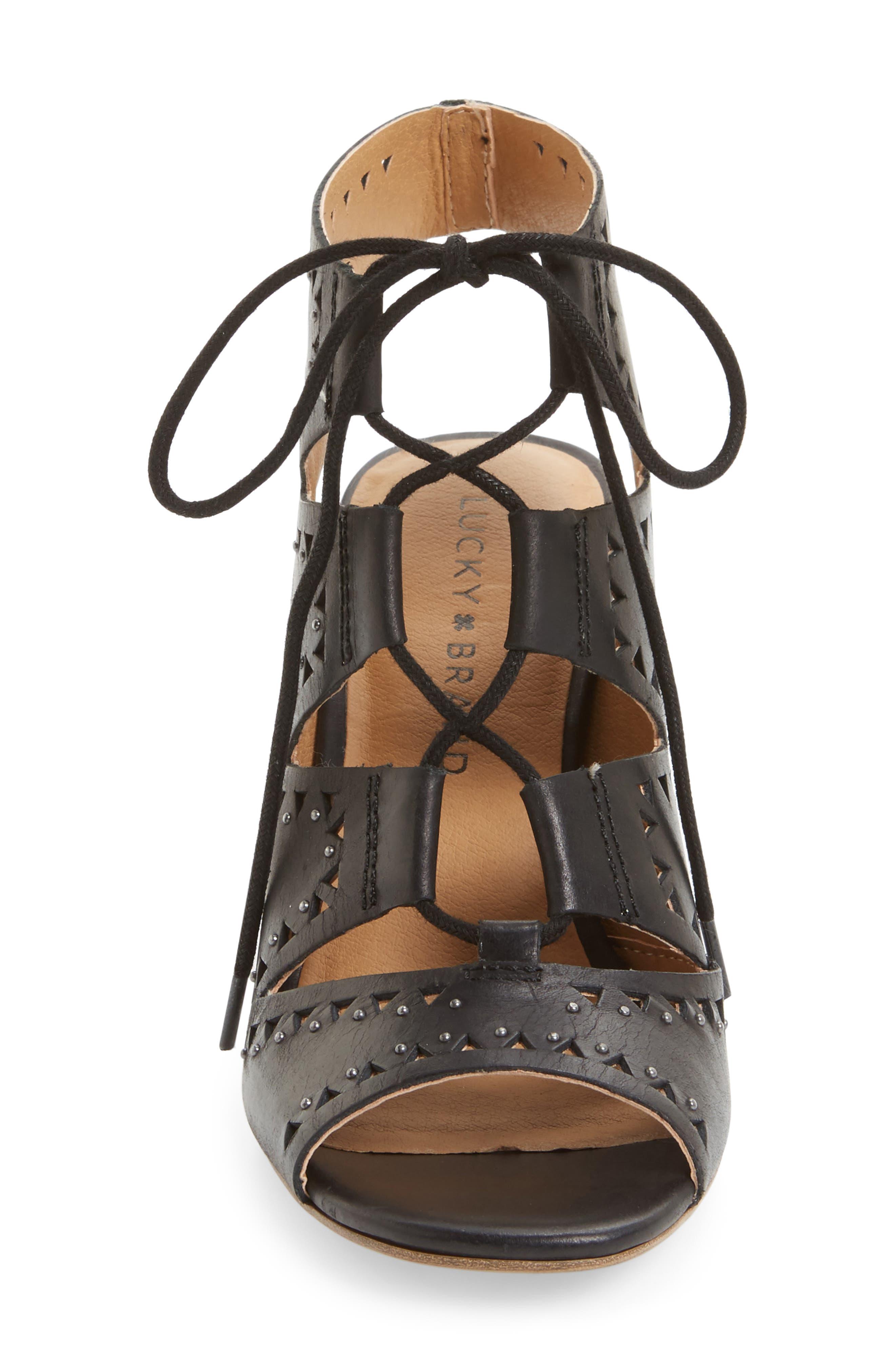 Tafia Lace-Up Sandal,                             Alternate thumbnail 3, color,                             001