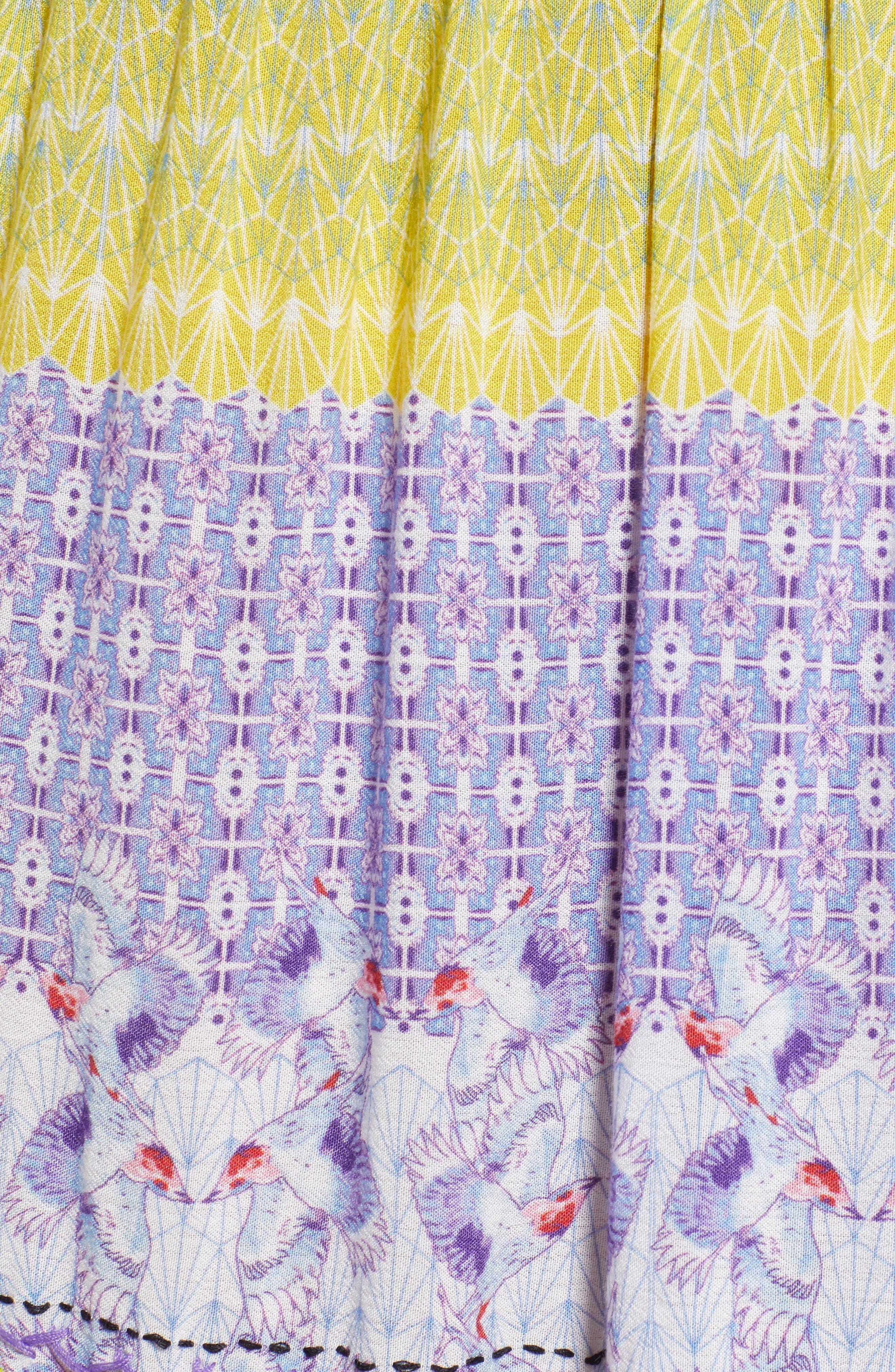 Tropic Bird Tassel Trim Skirt,                             Alternate thumbnail 5, color,                             500
