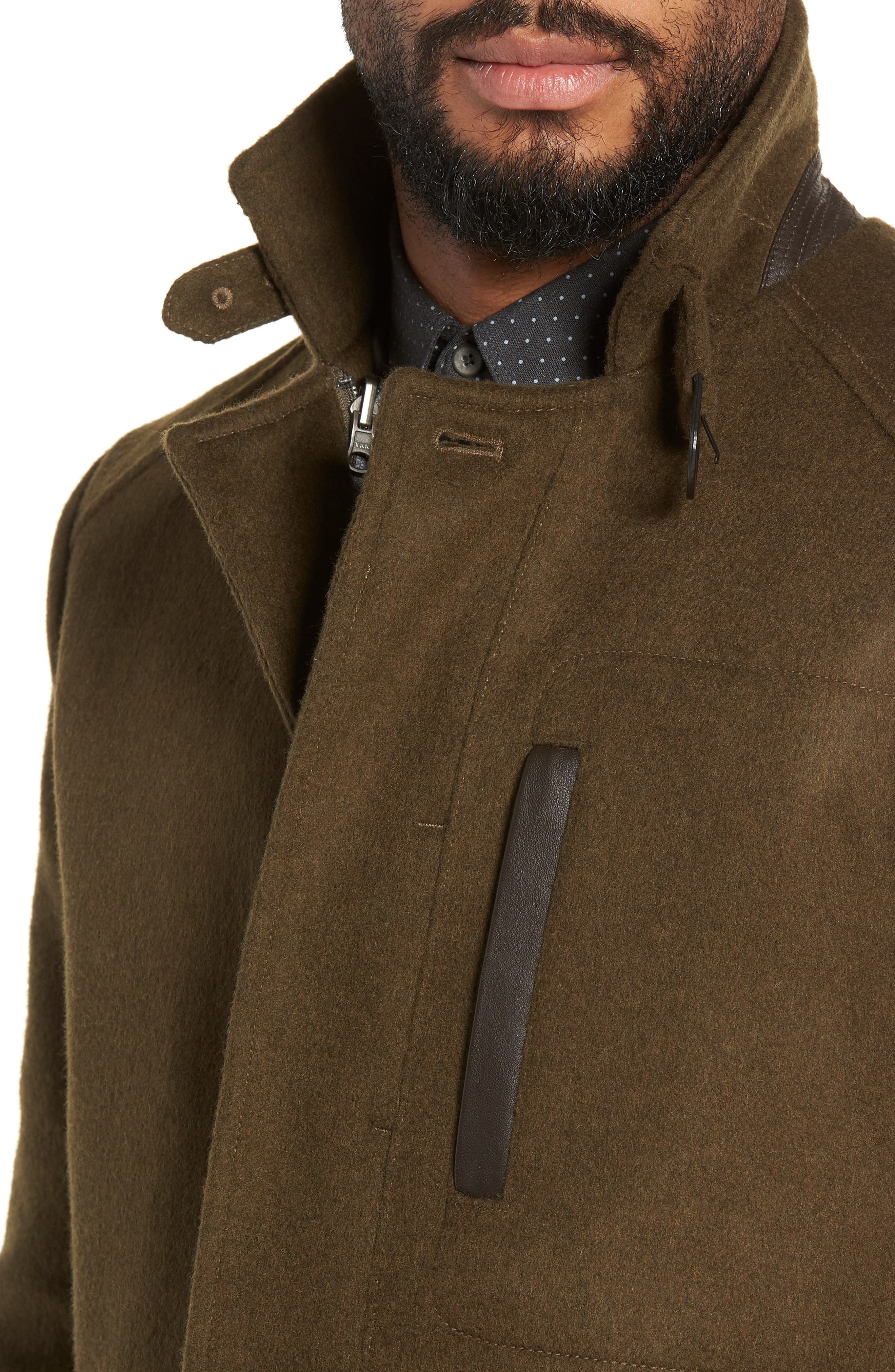 Kilo 3-in-1 Peacoat with Removable Quilted Jacket,                             Alternate thumbnail 5, color,                             OLIVE