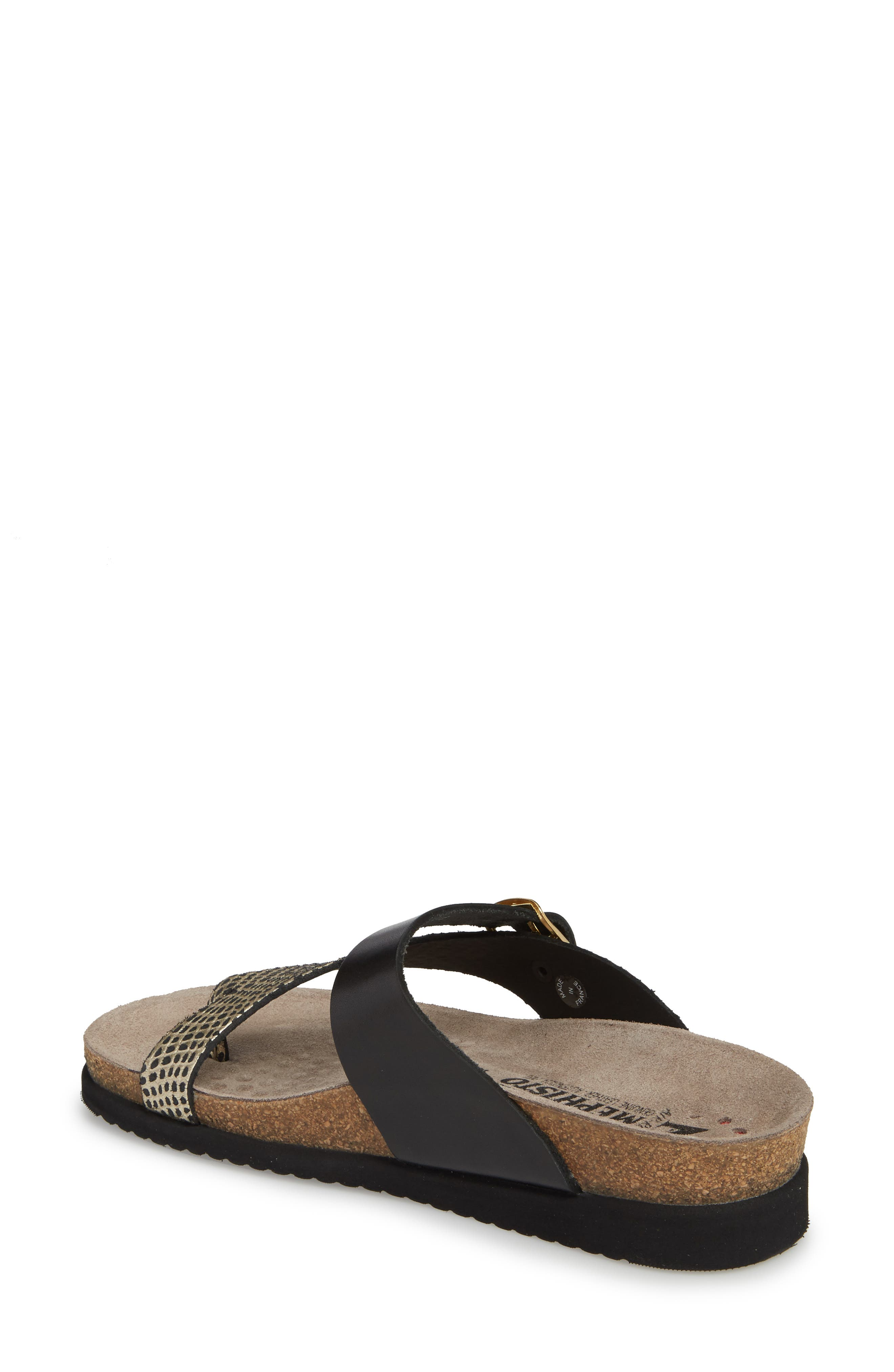 Helen Mix Sandal,                             Alternate thumbnail 2, color,                             BLACK/ GOLD