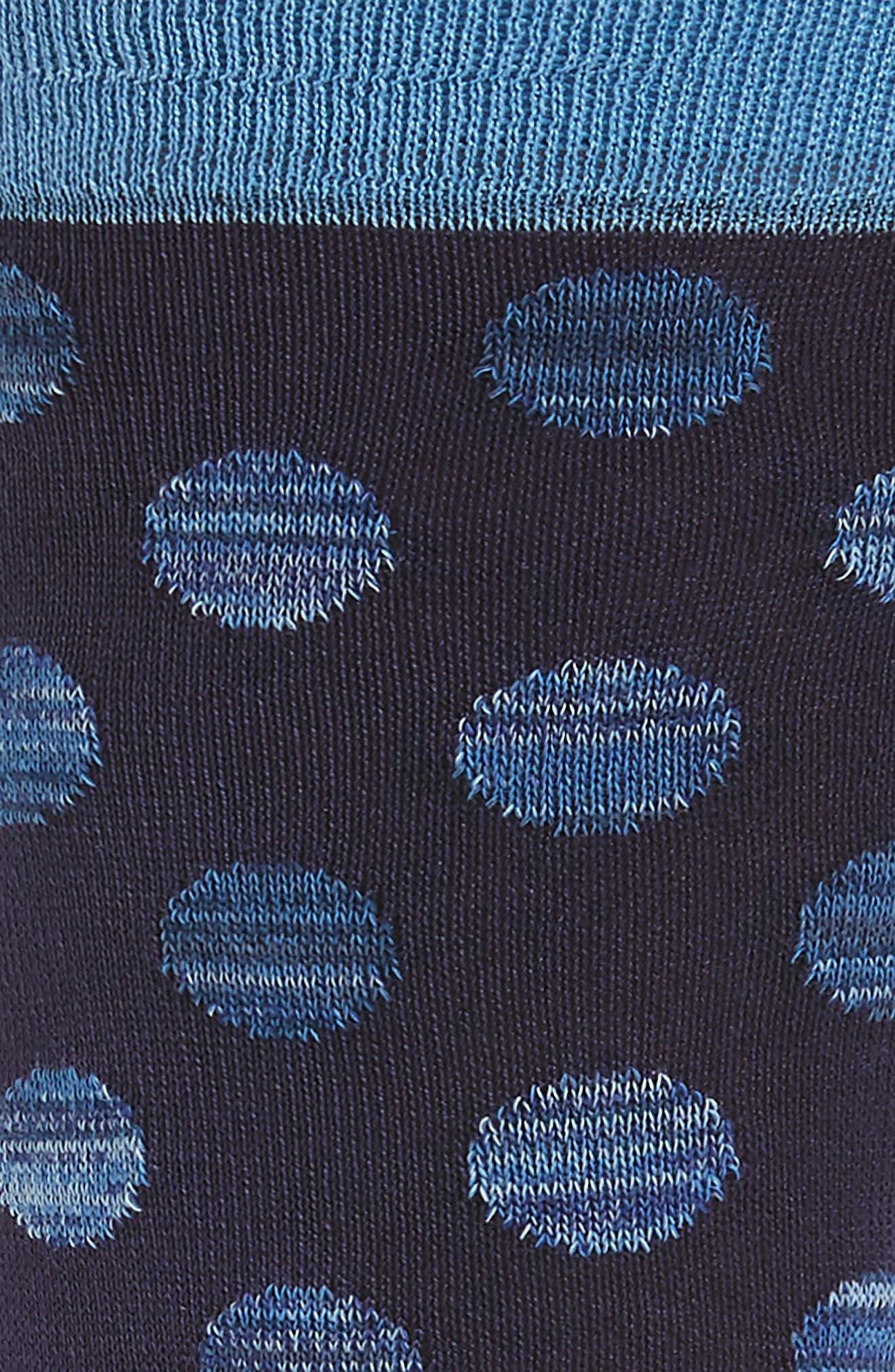 Dot Socks,                             Alternate thumbnail 2, color,                             408