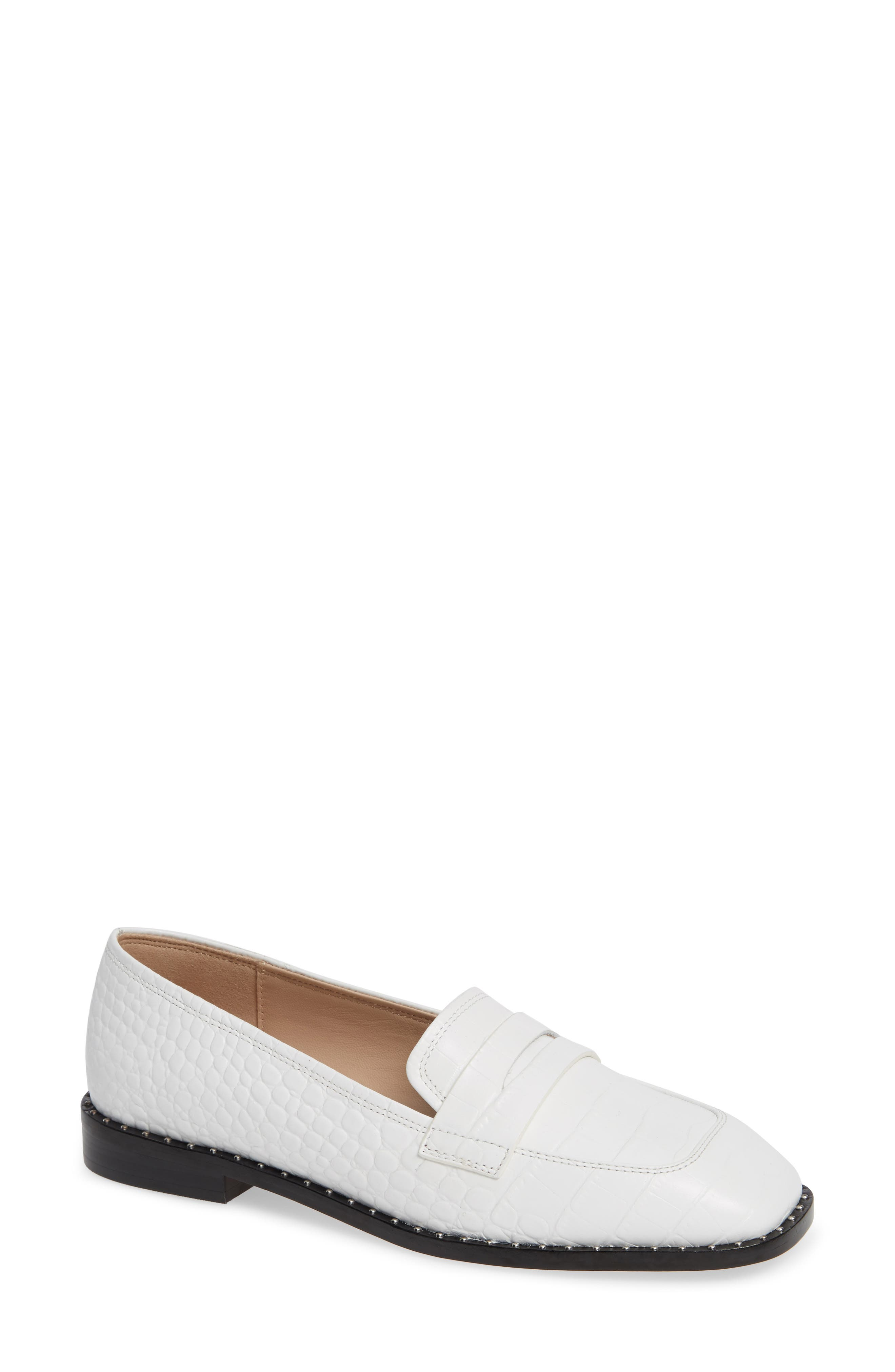 Amado Loafer,                         Main,                         color, WHITE EMBOSSED CROCO LEATHER
