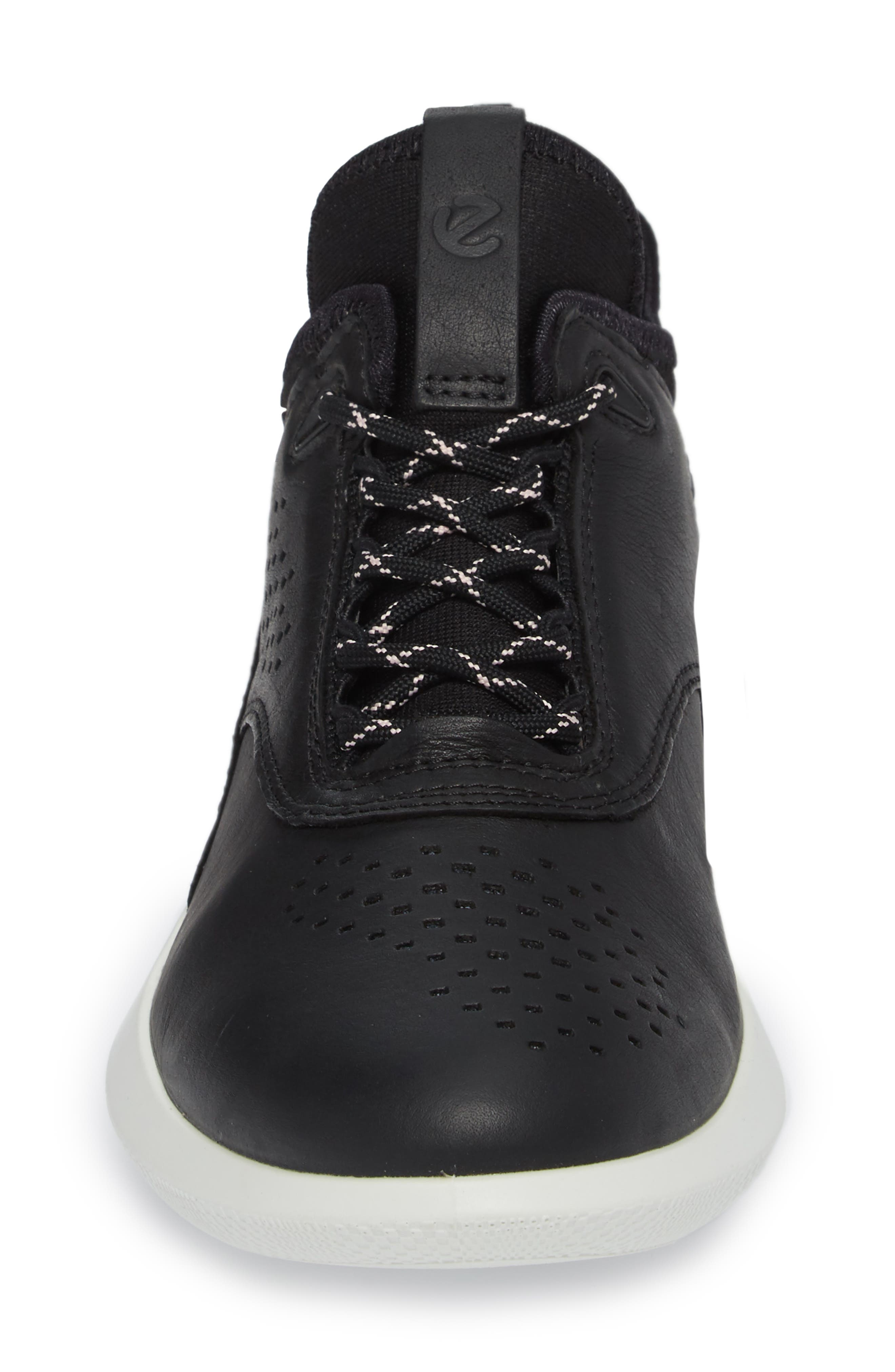 Scinapse Sneaker,                             Alternate thumbnail 4, color,                             BLACK LEATHER