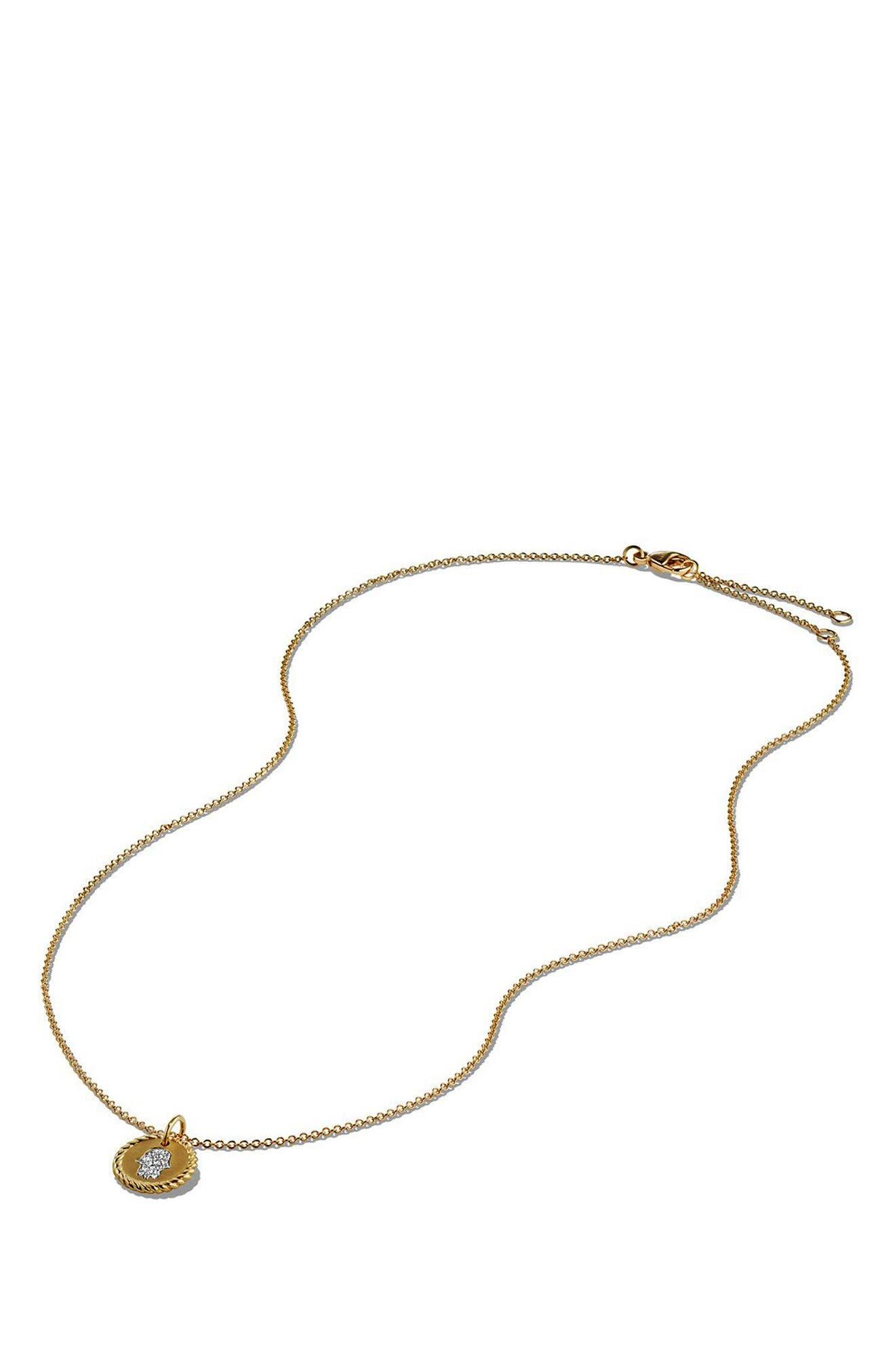 'Cable Collectibles' Pavé Charm with Diamonds in Gold,                             Alternate thumbnail 4, color,                             GOLD
