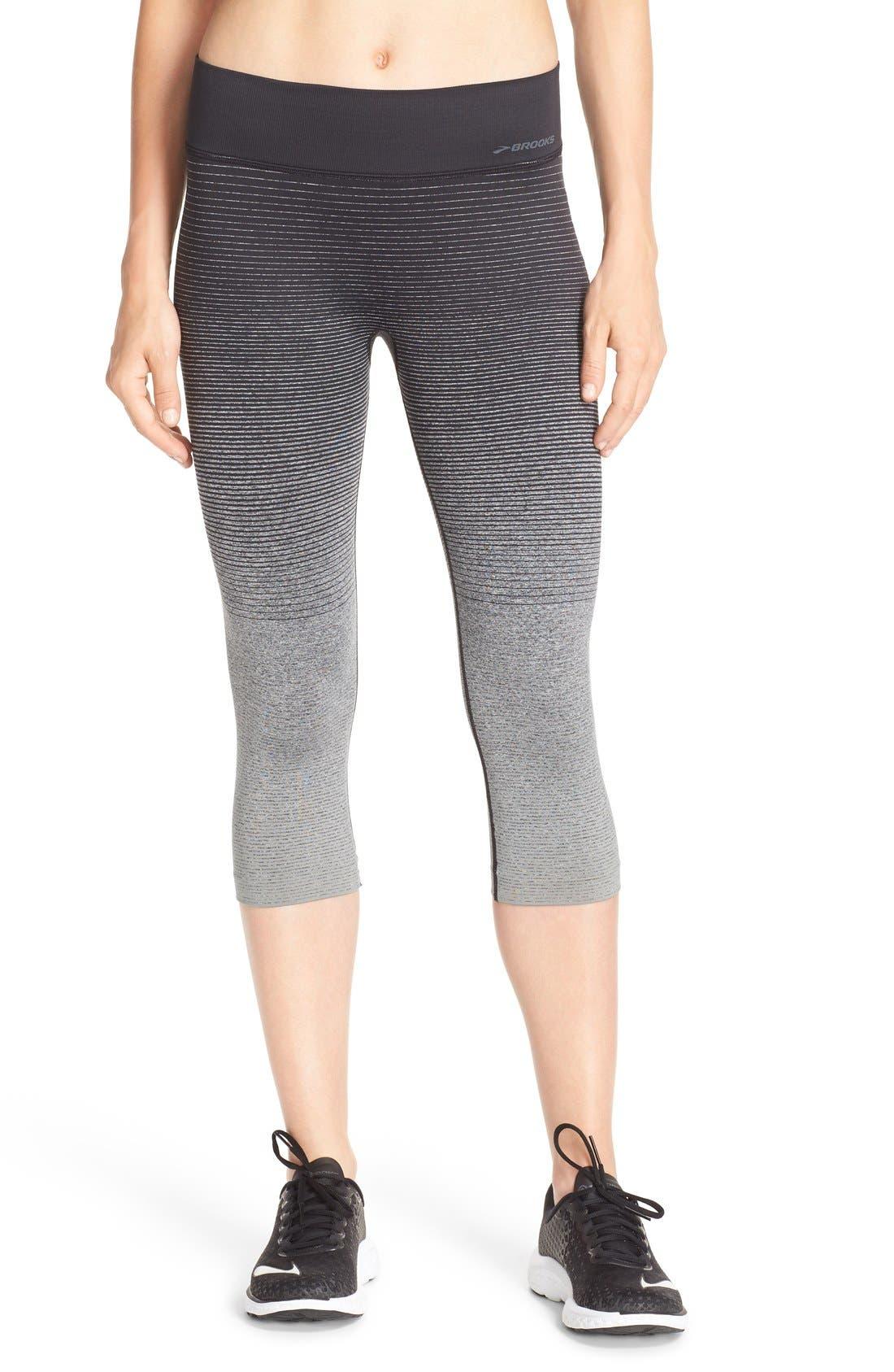 'Streaker' Capri Leggings,                         Main,                         color, OXFORD/ BLACK
