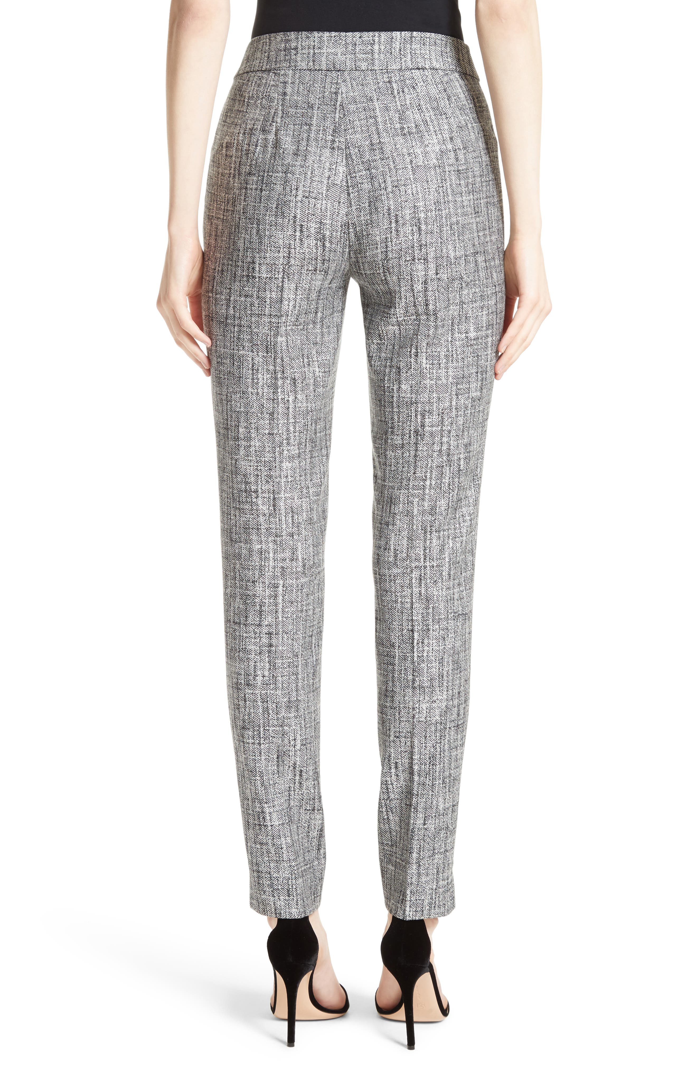 Emma Abstract Stretch Twill Pants,                             Alternate thumbnail 2, color,                             030