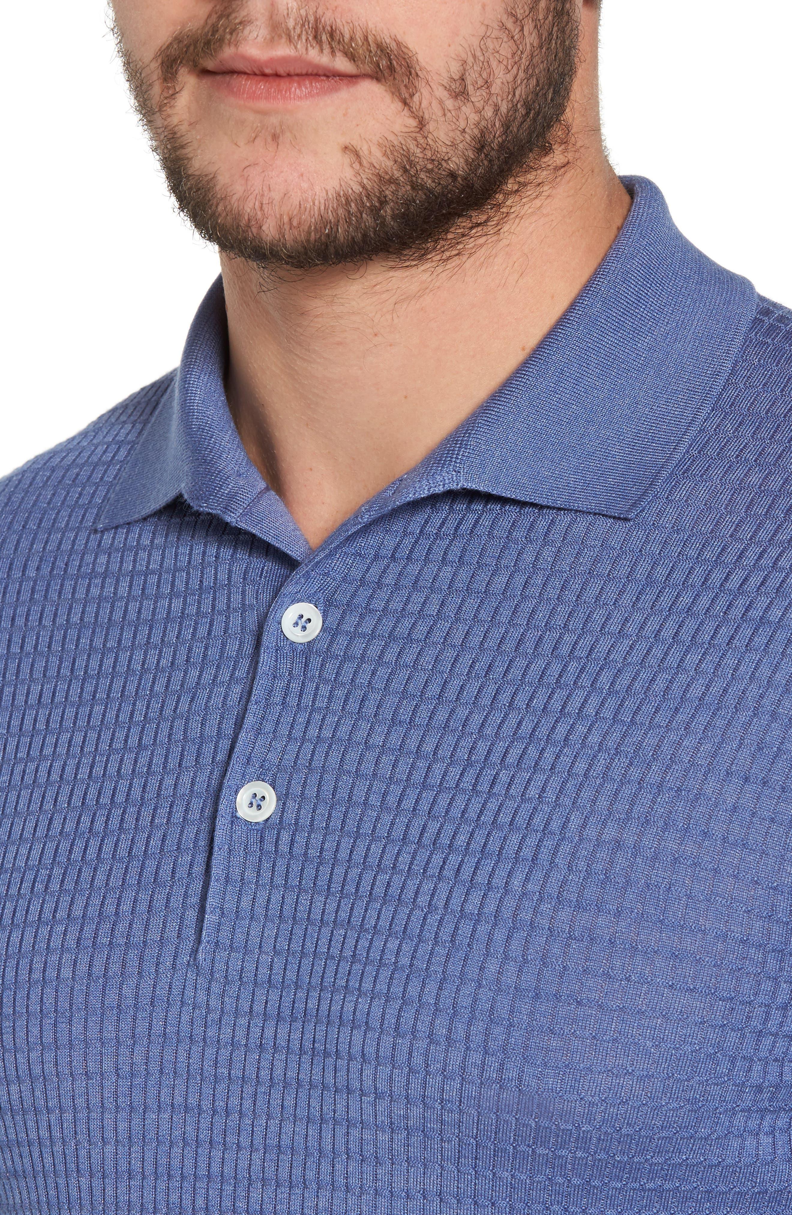 Silk & Cashmere Blend Polo,                             Alternate thumbnail 4, color,                             400