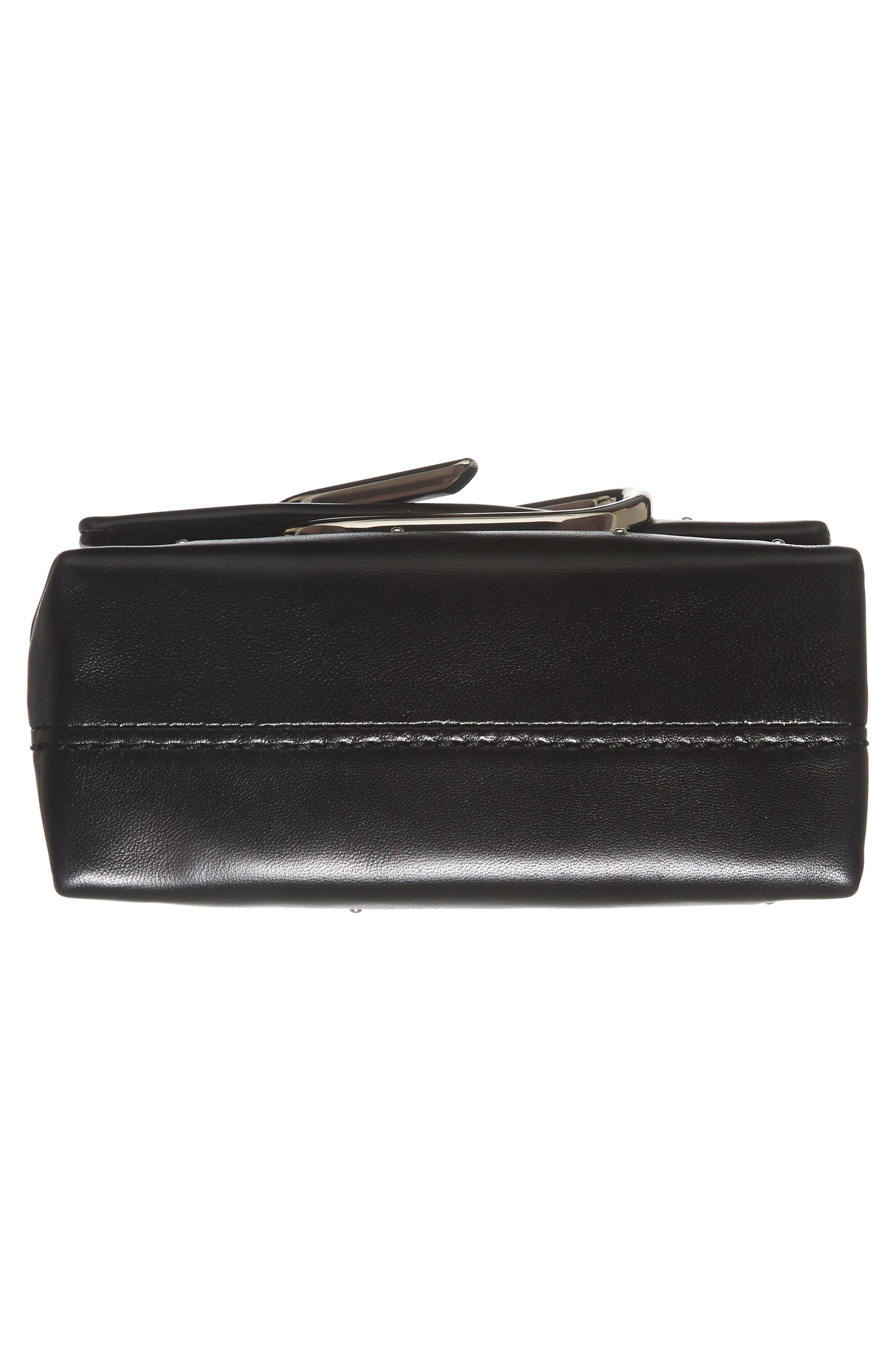 Micro Alix Leather Crossbody Bag,                             Alternate thumbnail 6, color,                             001