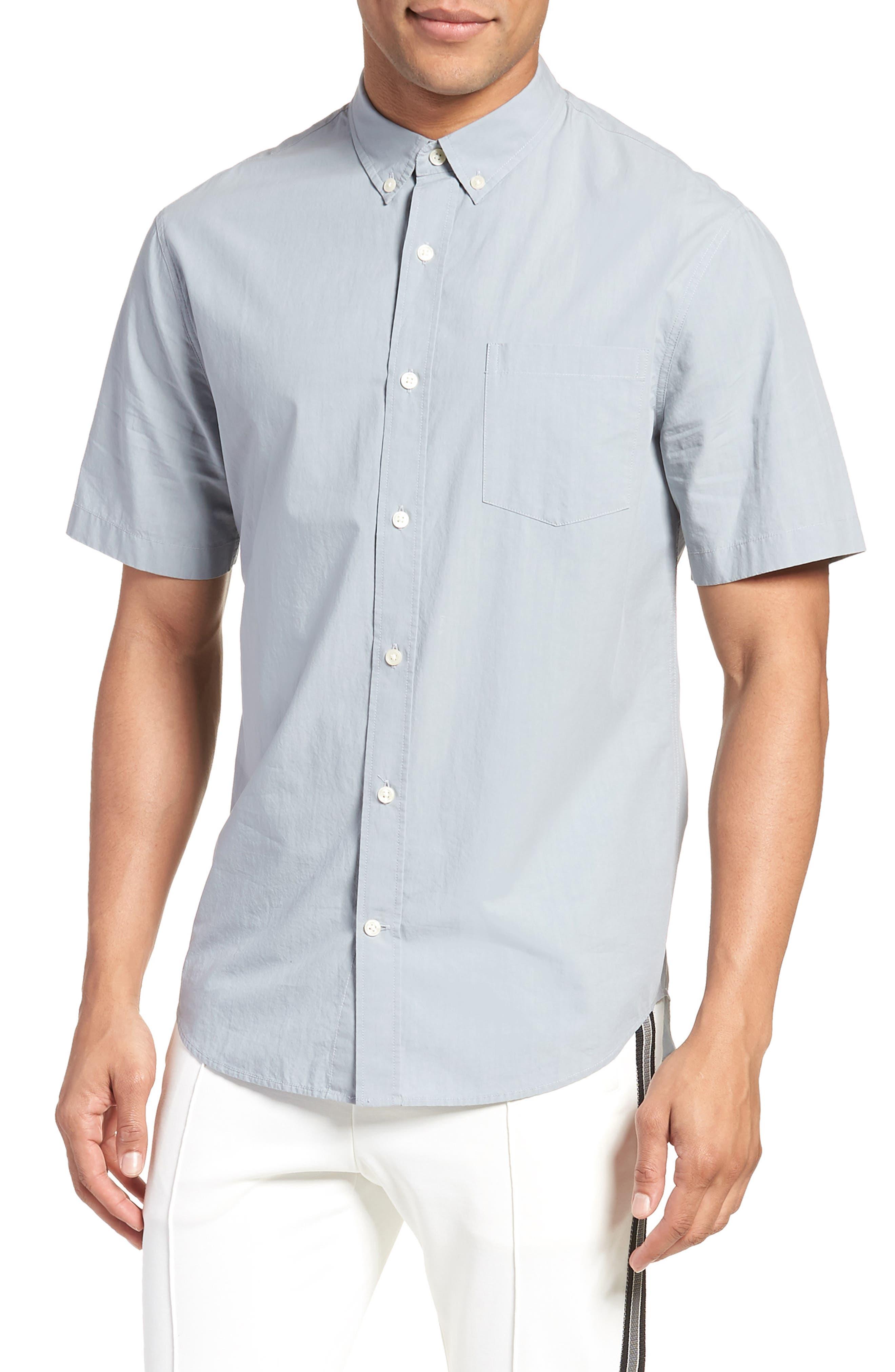 Slim Fit Sport Shirt,                         Main,                         color, STORM
