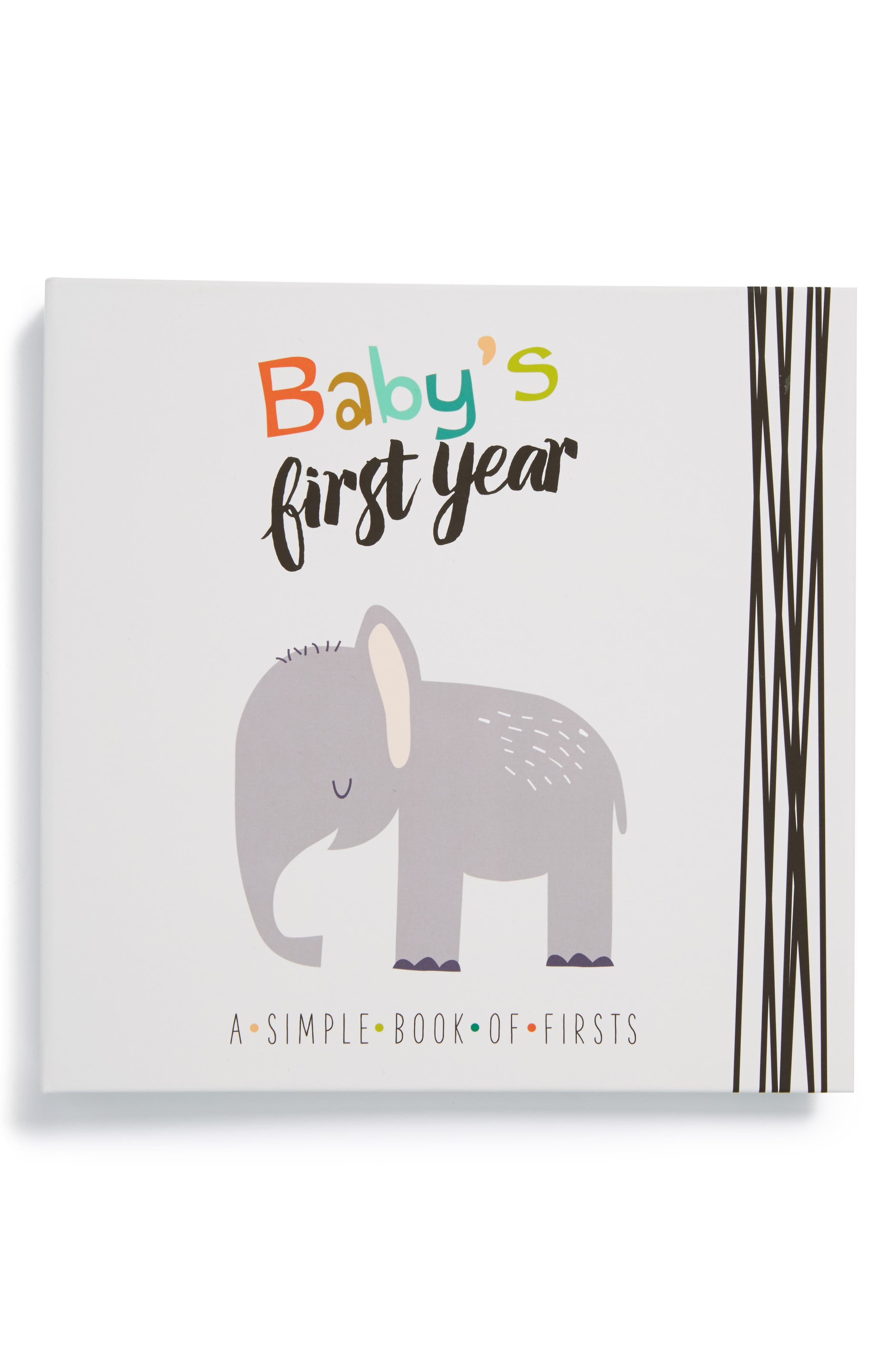 'Baby's First Year' Memory Book,                         Main,                         color, GREY