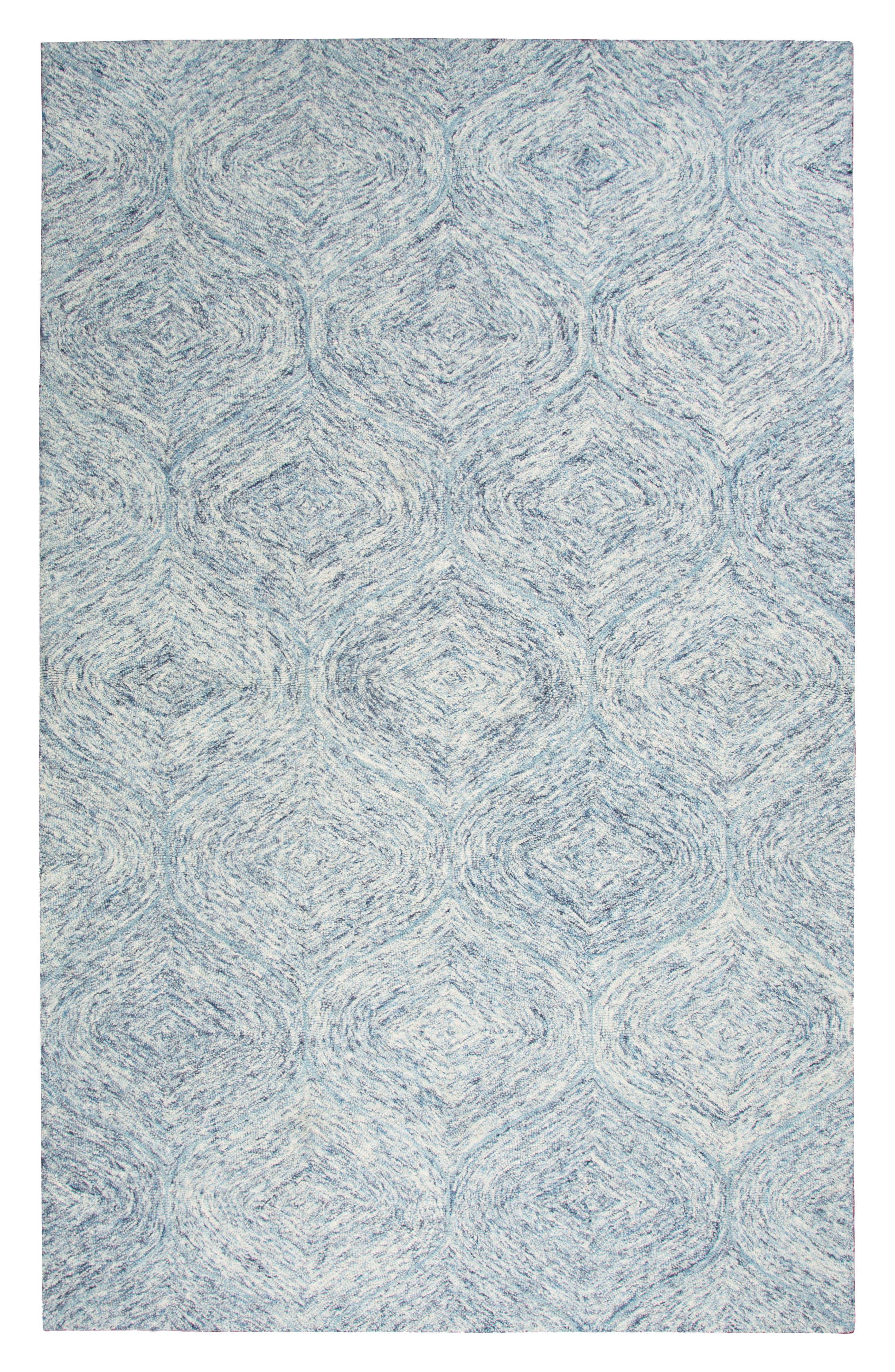 Irregular Diamond Hand Tufted Wool Area Rug,                             Main thumbnail 5, color,