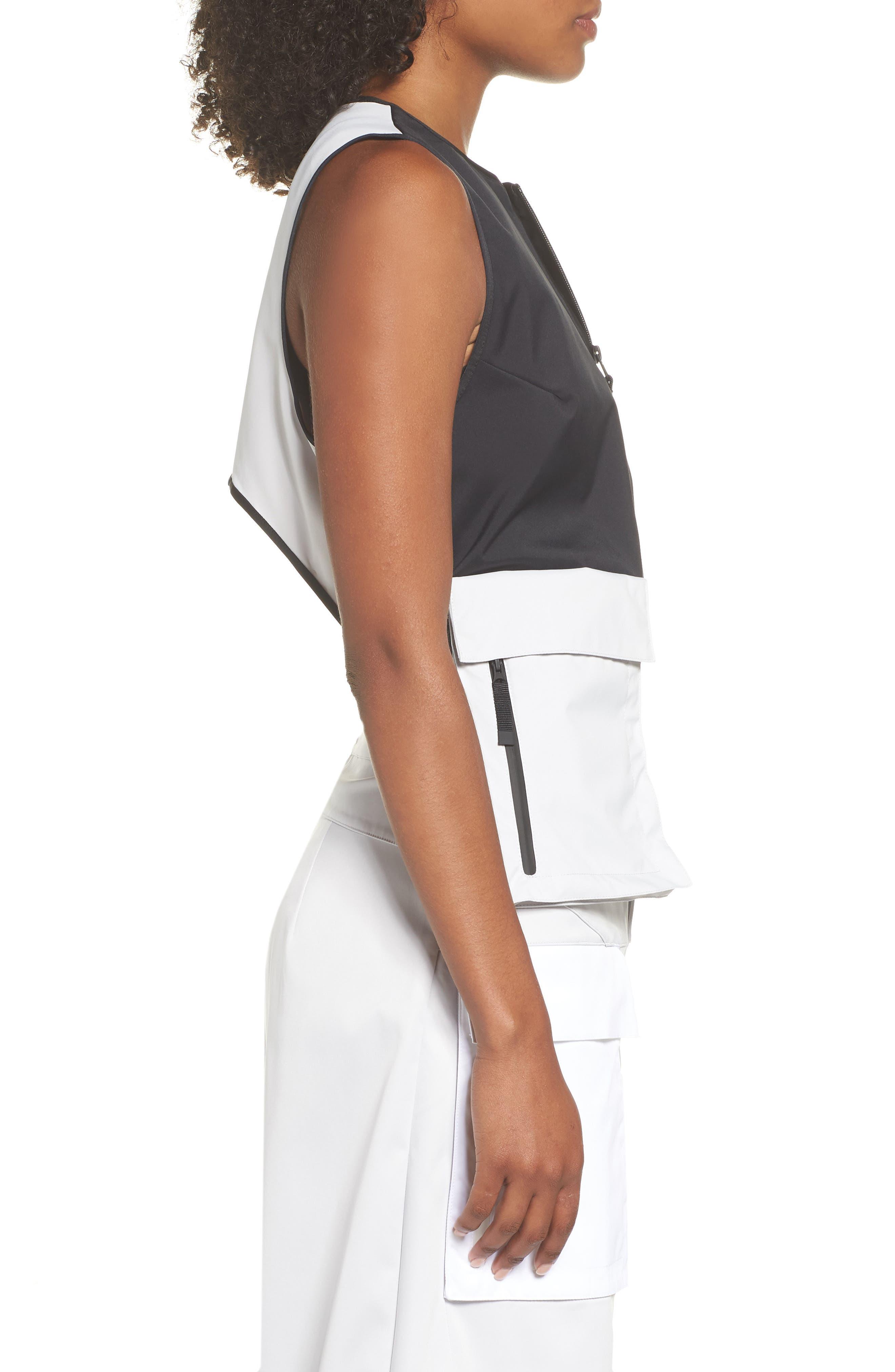 NRG Women's Utility Vest,                             Alternate thumbnail 3, color,                             BLACK/ VAPOR GREEN/ BLACK