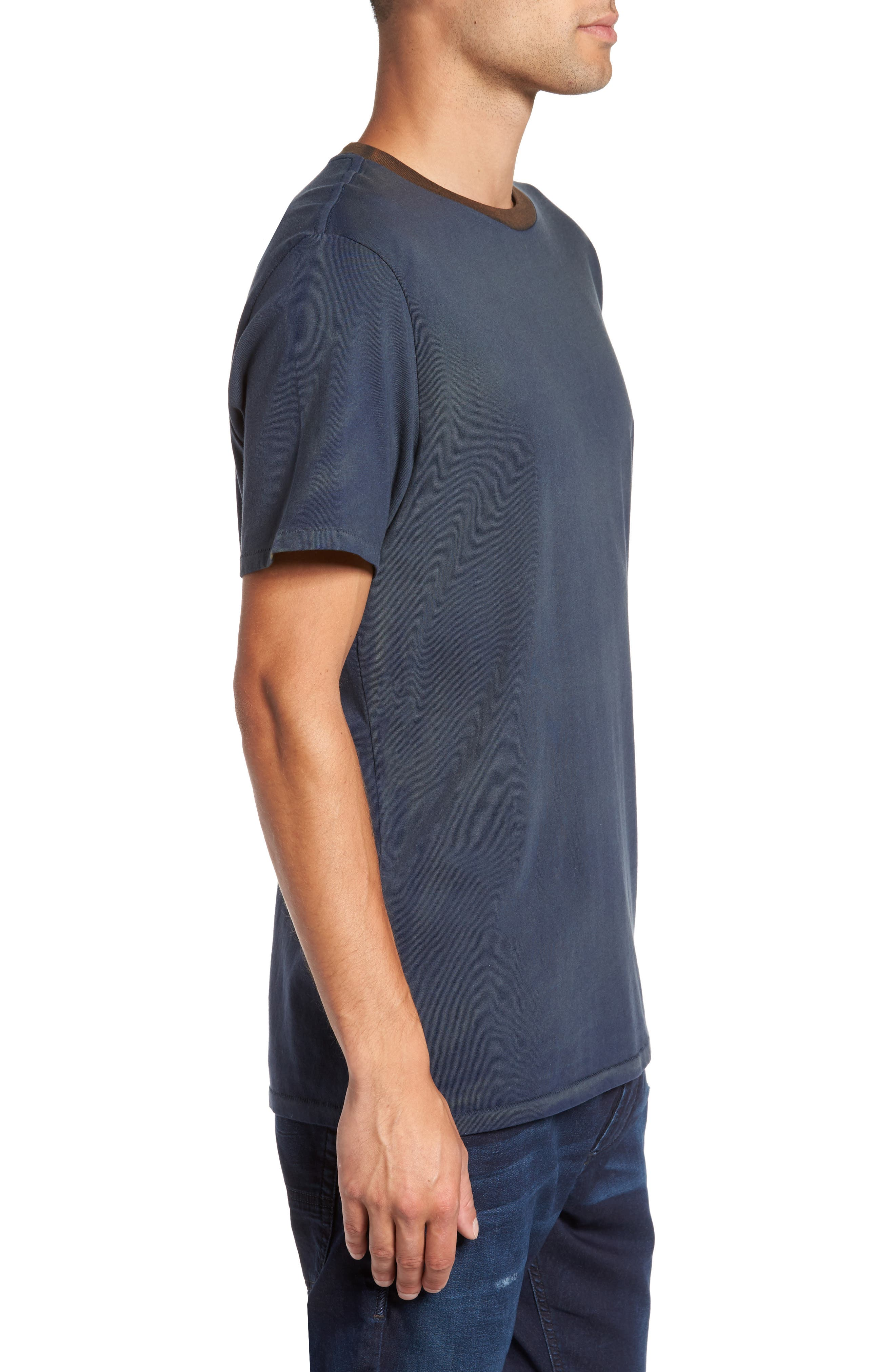 Two-Tone T-Shirt,                             Alternate thumbnail 3, color,                             410
