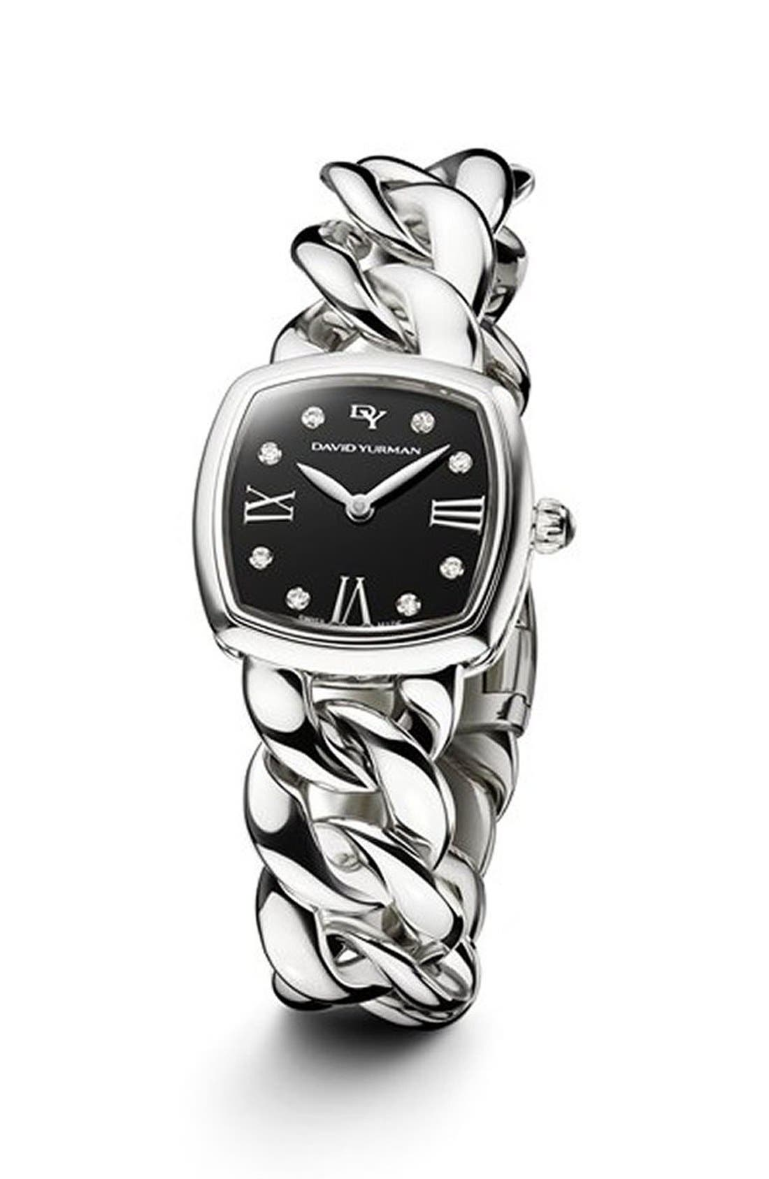 'Albion' 23mm Stainless Steel Quartz Watch with Diamonds,                         Main,                         color, SILVER