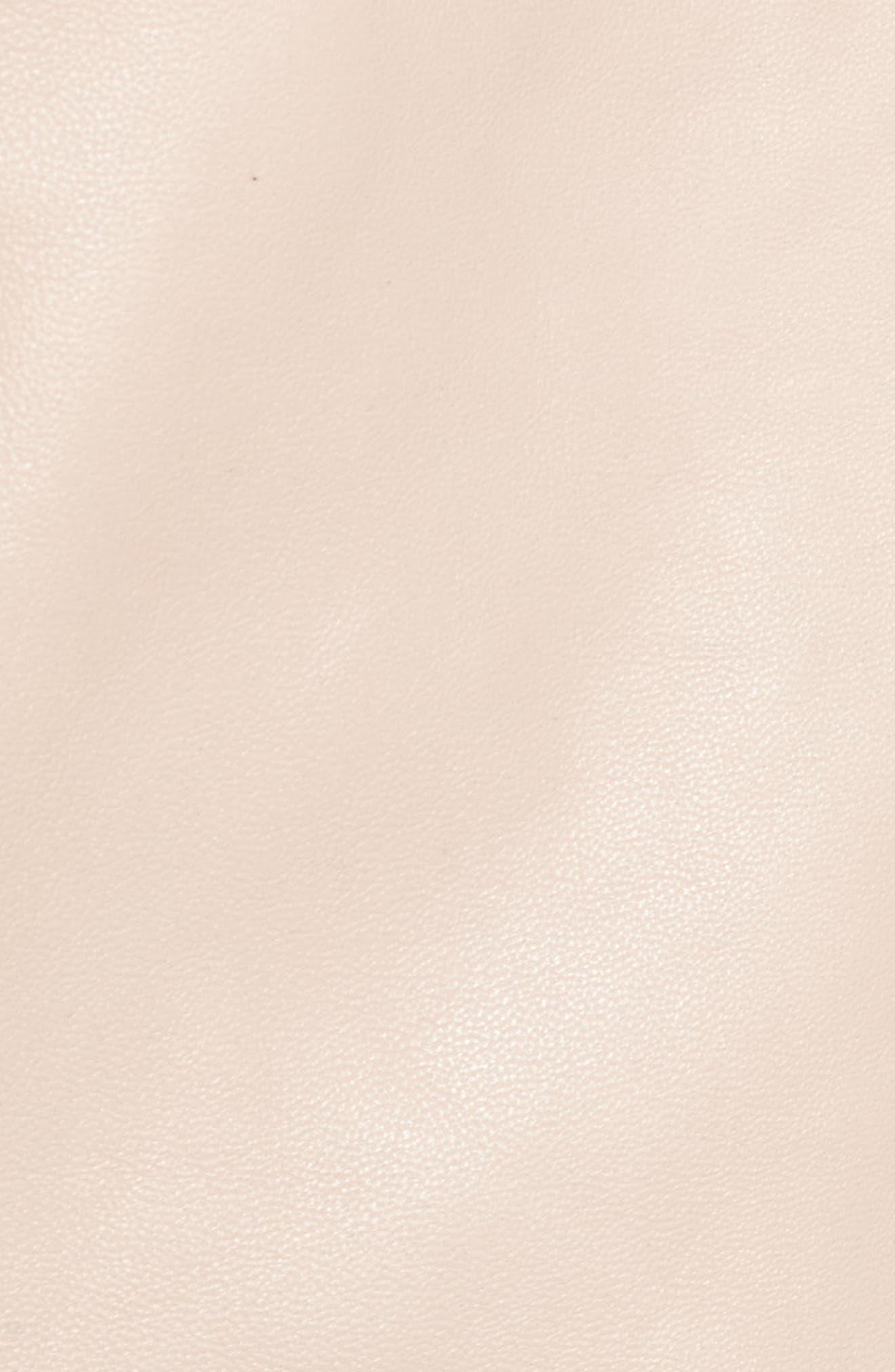 Leather Moto Jacket,                             Alternate thumbnail 22, color,