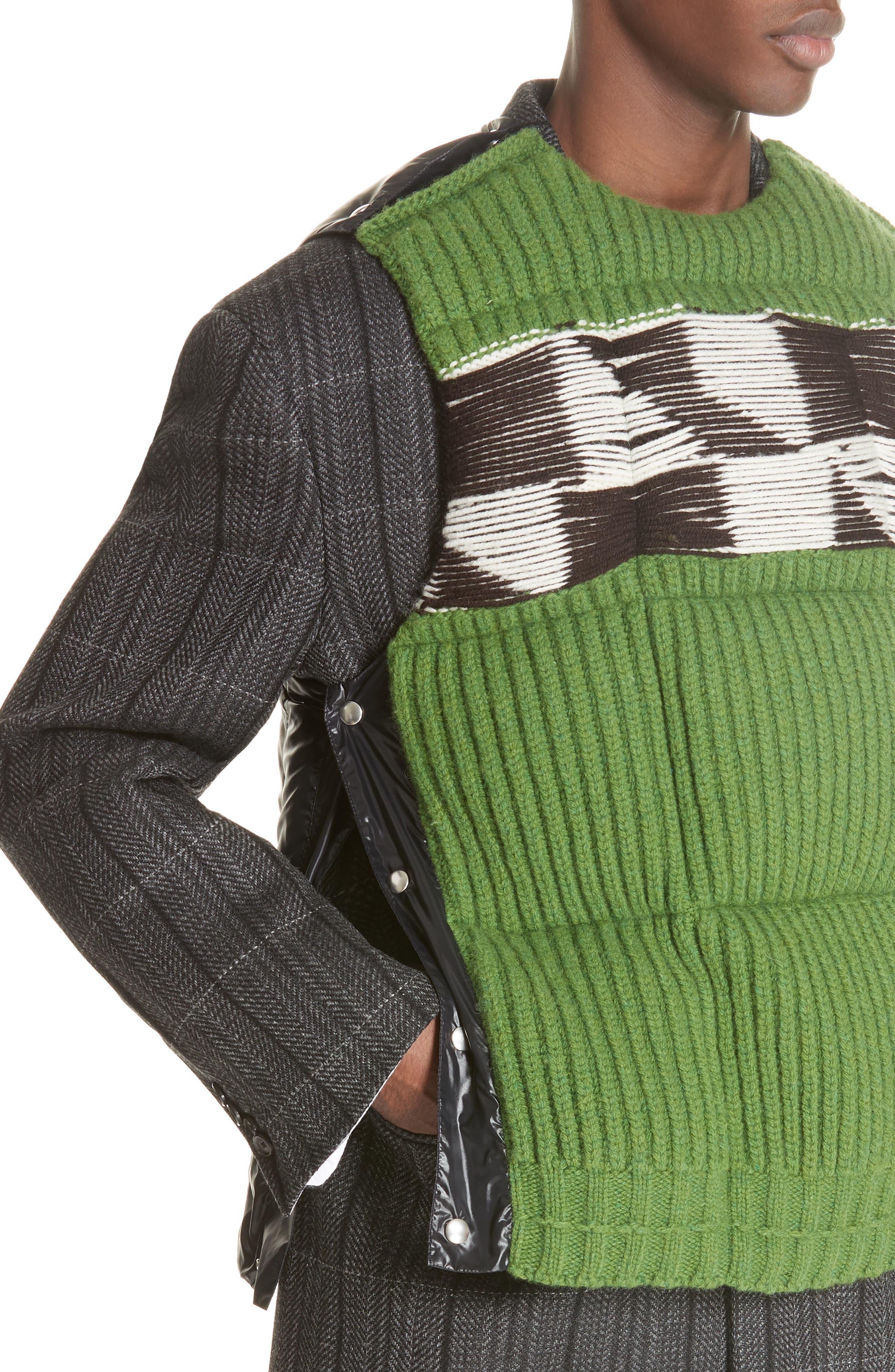 Body Warmer Vest,                             Alternate thumbnail 3, color,                             GREEN FERN