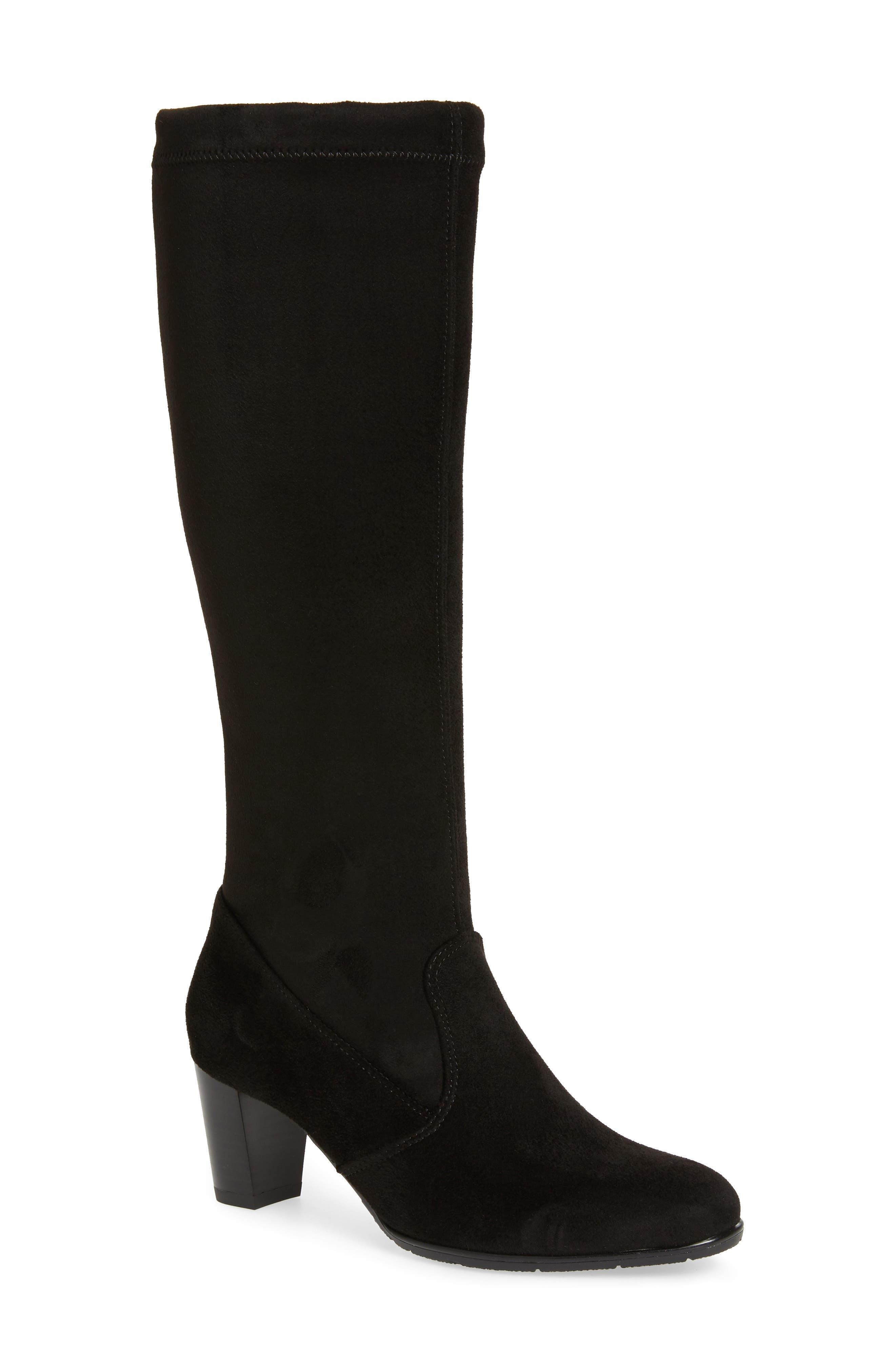 Ara Tai Knee High Riding Boot, Black