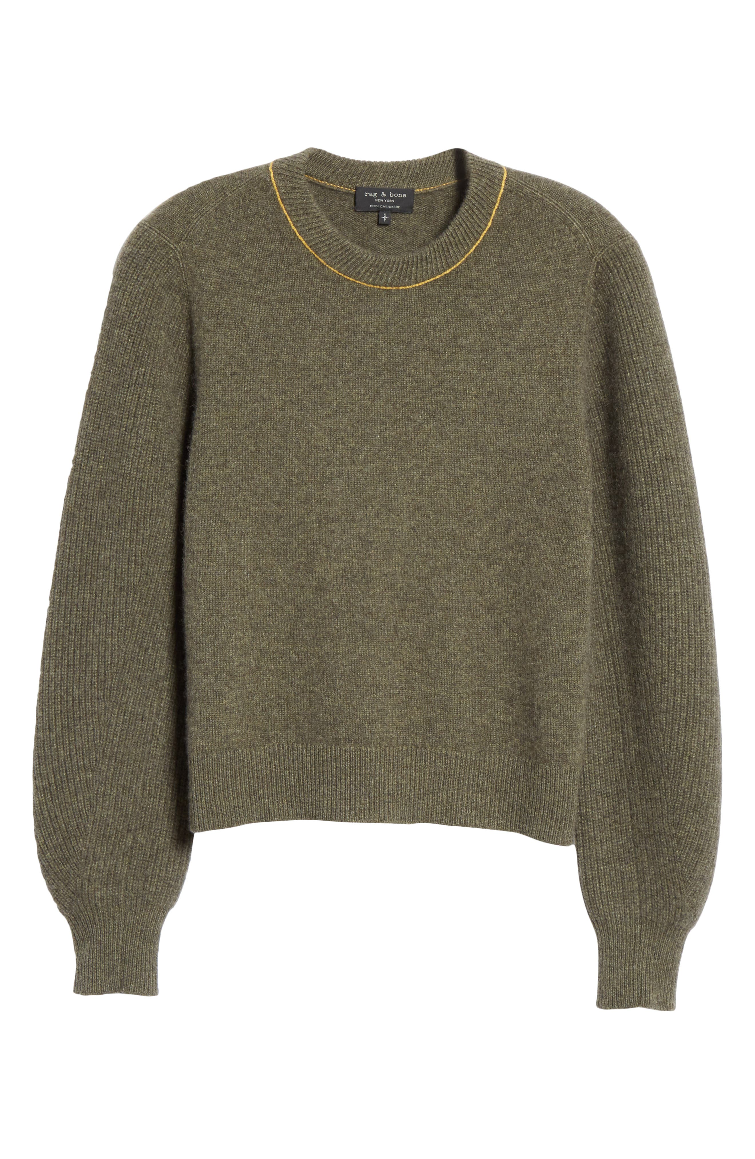 Yorke Cashmere Sweater,                             Alternate thumbnail 6, color,                             ARMY