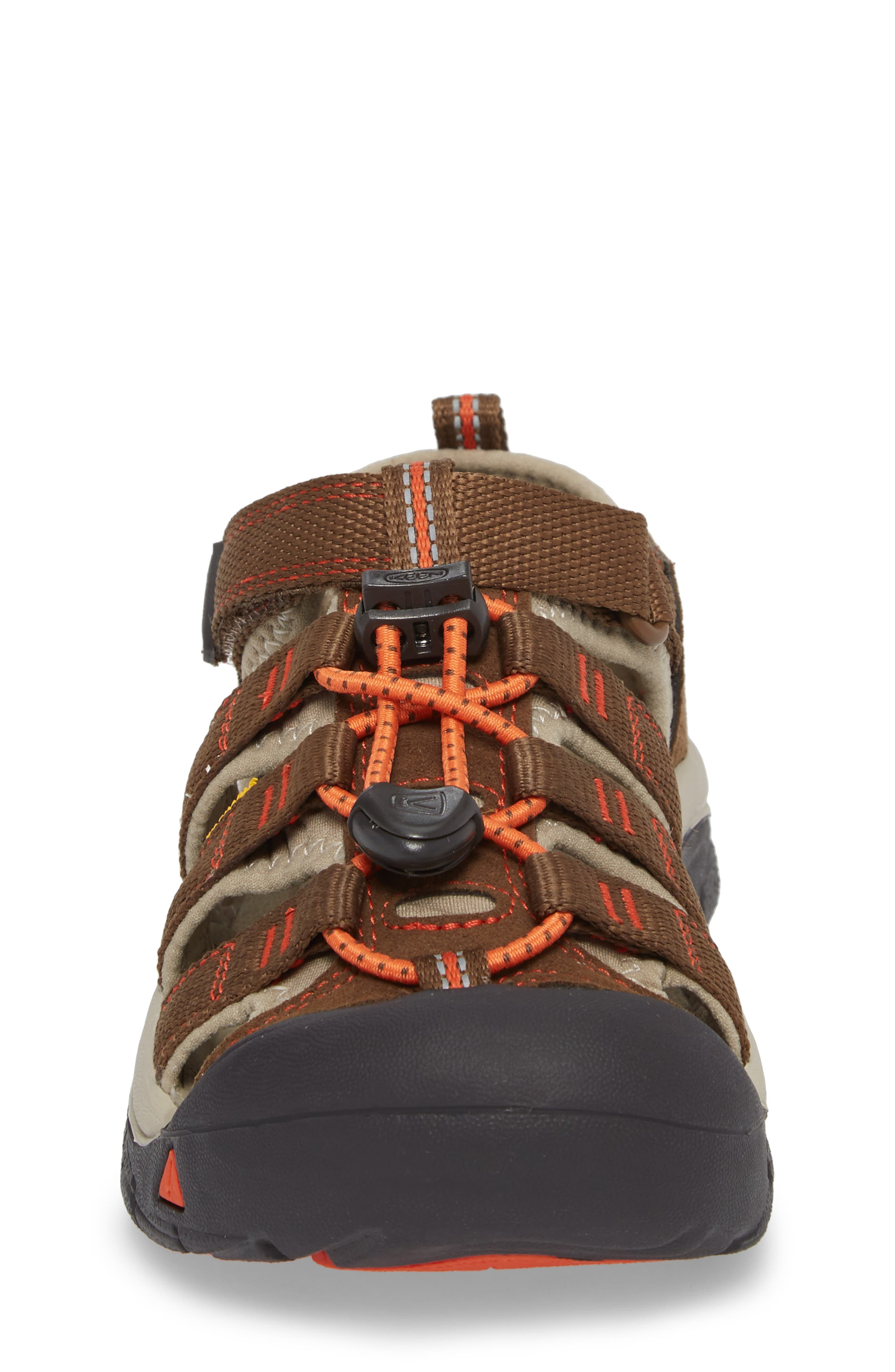 'Newport H2' Water Friendly Sandal,                             Alternate thumbnail 4, color,                             DARK EARTH/ SPICY ORANGE