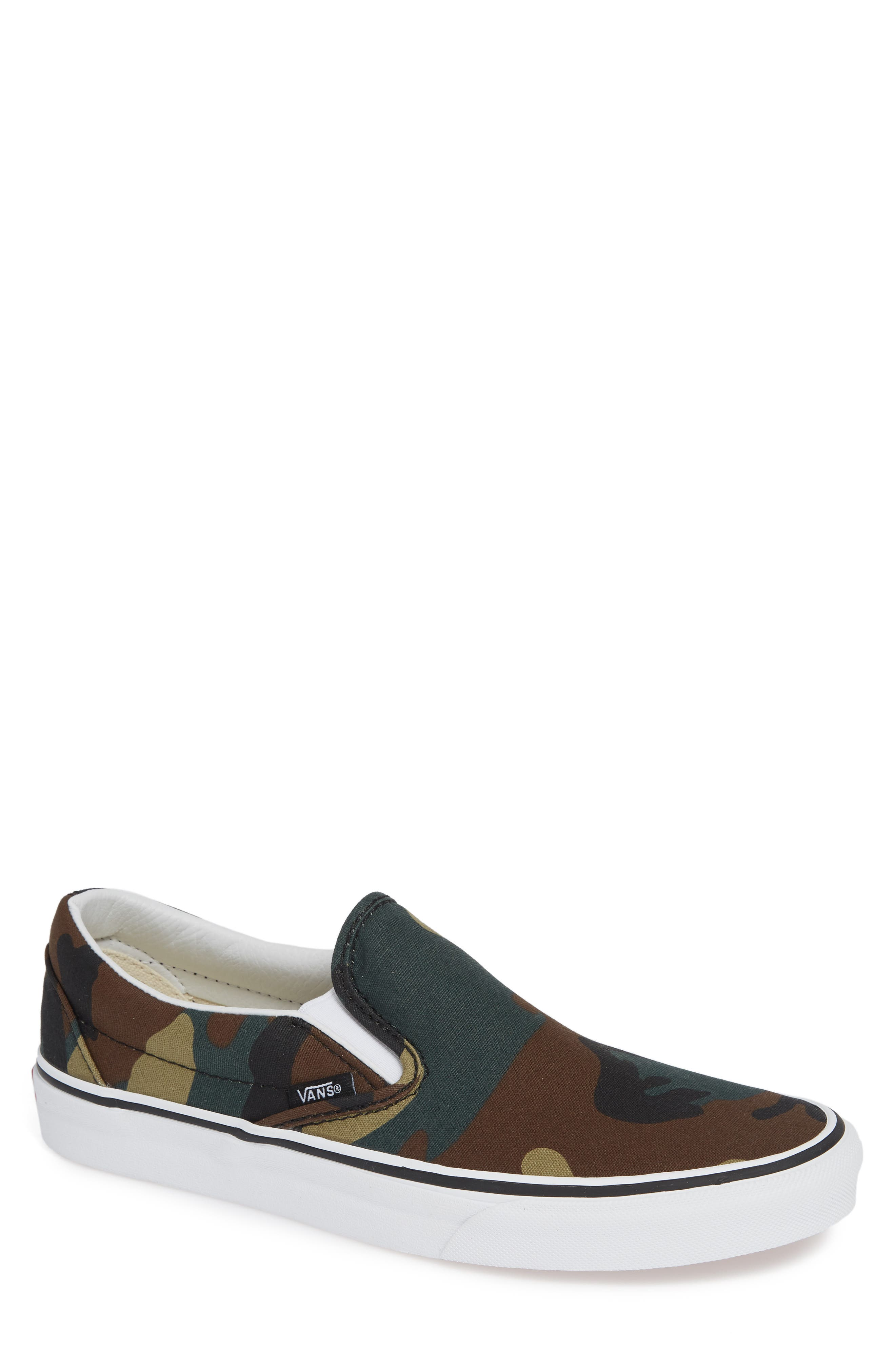 Classic Slip-On,                             Main thumbnail 1, color,                             BLACK / WOODLAND
