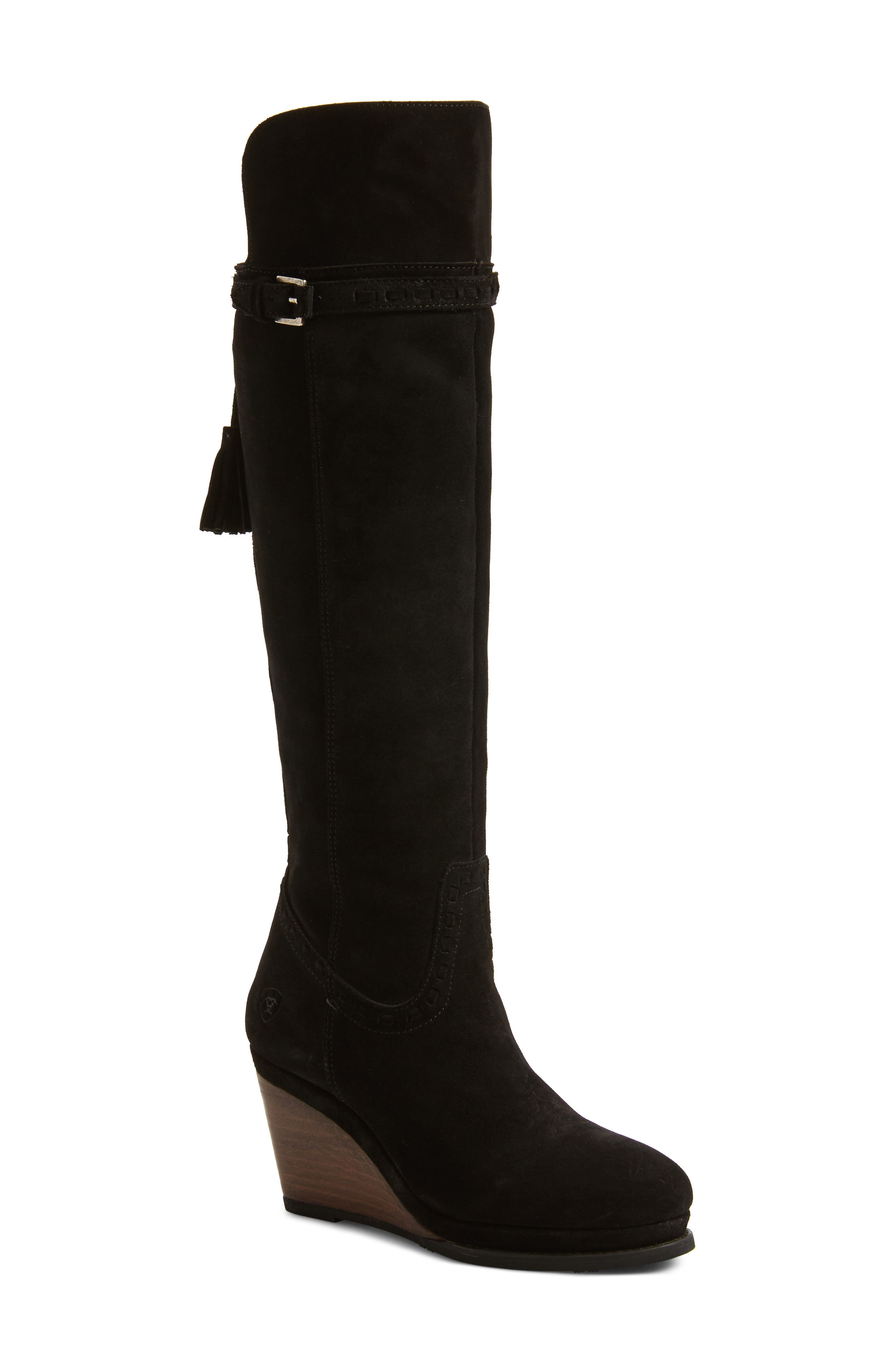 Knoxville Boot,                             Main thumbnail 1, color,                             BLACK LEATHER