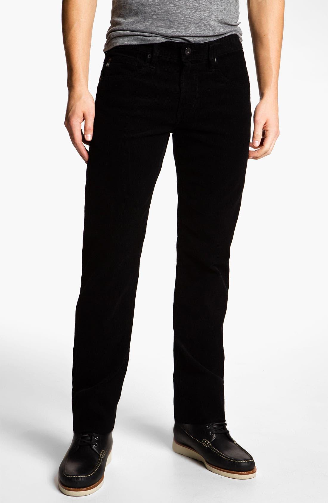Jeans 'Matchbox' Slim Straight Leg Corduroy Pants,                             Main thumbnail 1, color,                             010