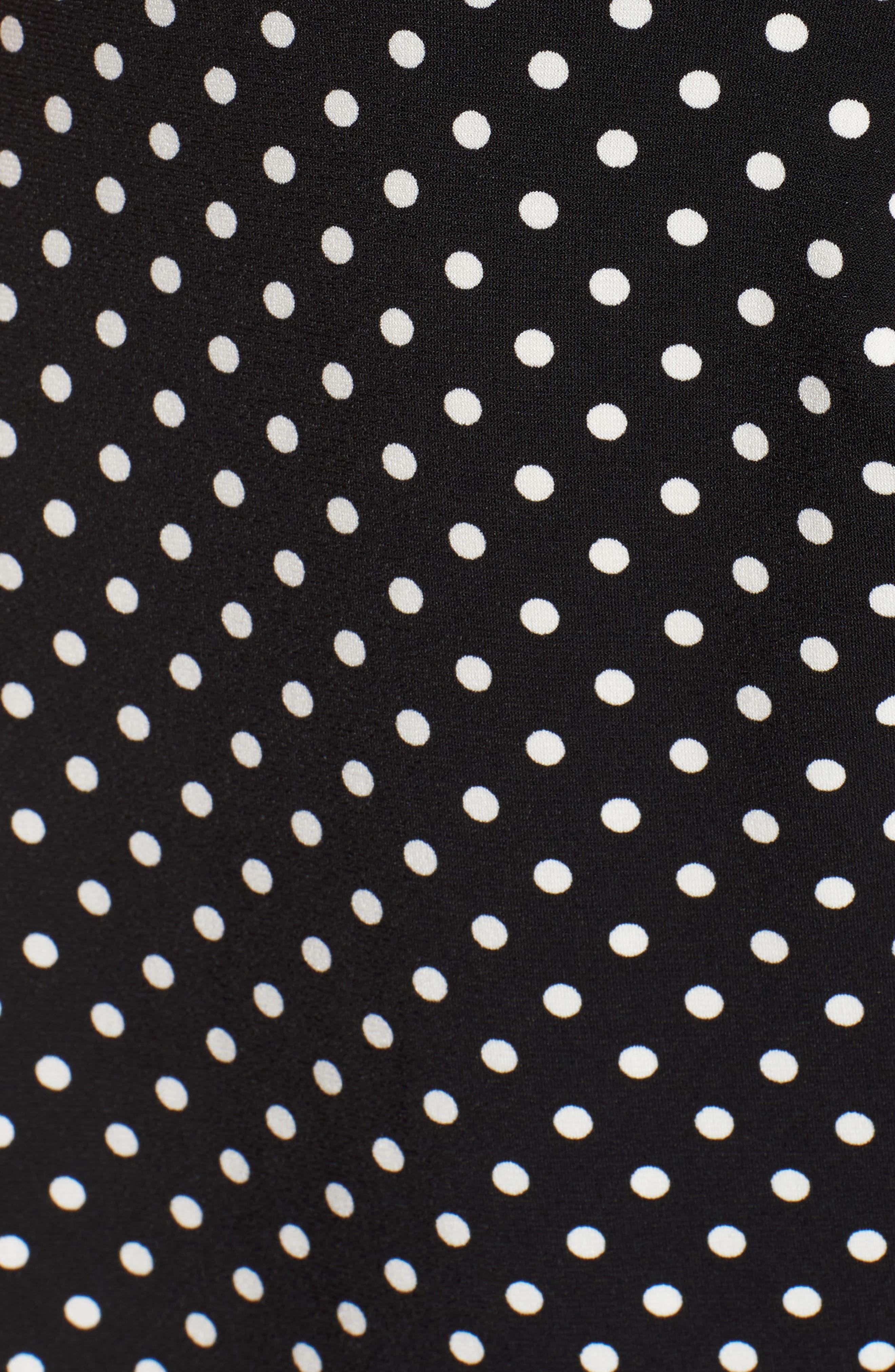Flutter Sleeve Polka Dot Dress,                             Alternate thumbnail 5, color,