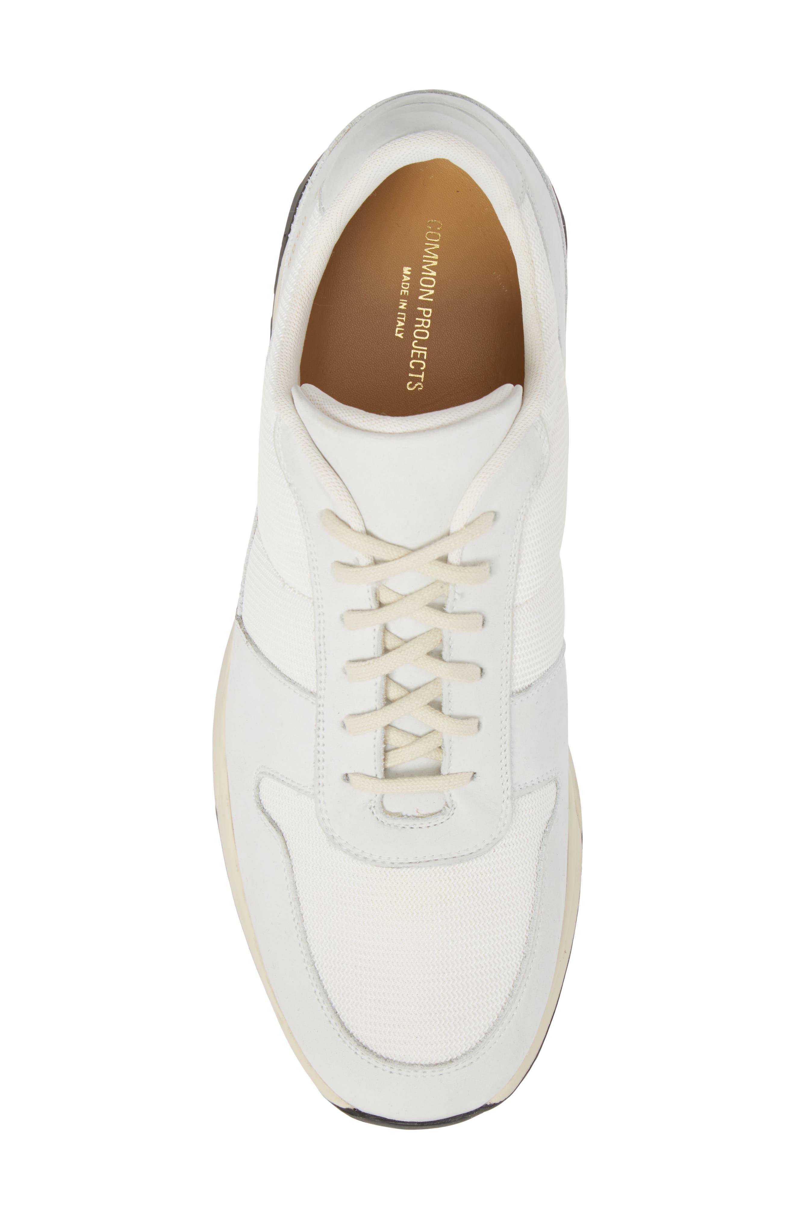 Track Vintage Sneaker,                             Alternate thumbnail 5, color,                             WHITE