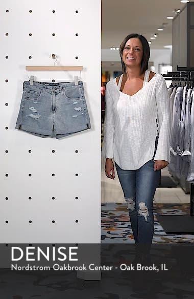 Hailey High Waist Cuff Denim Shorts, sales video thumbnail