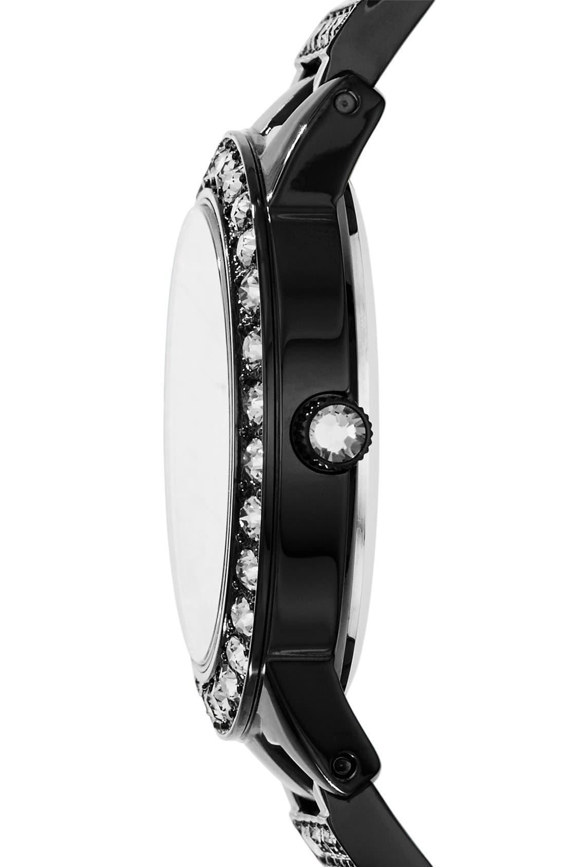 FOSSIL,                             'Jesse' Crystal Embellished Bracelet Watch, 34mm,                             Alternate thumbnail 3, color,                             001