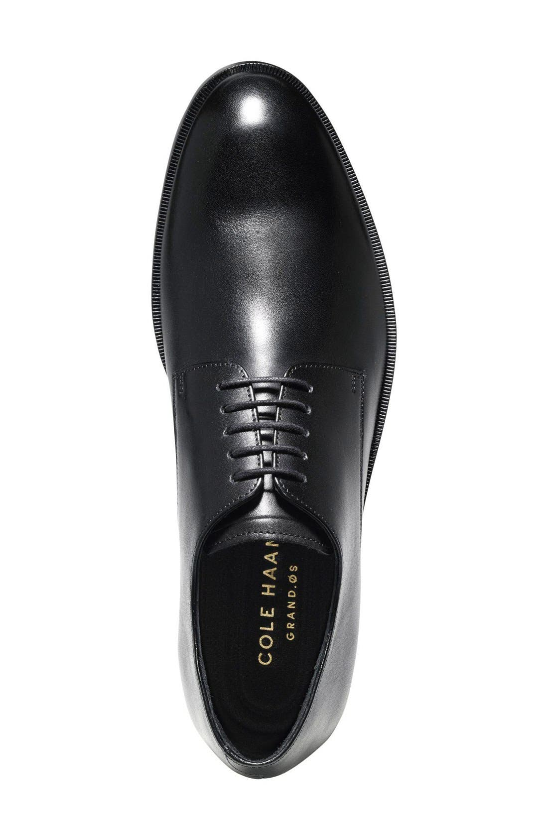 'Harrison Grand' Plain Toe Derby,                             Alternate thumbnail 10, color,                             BLACK
