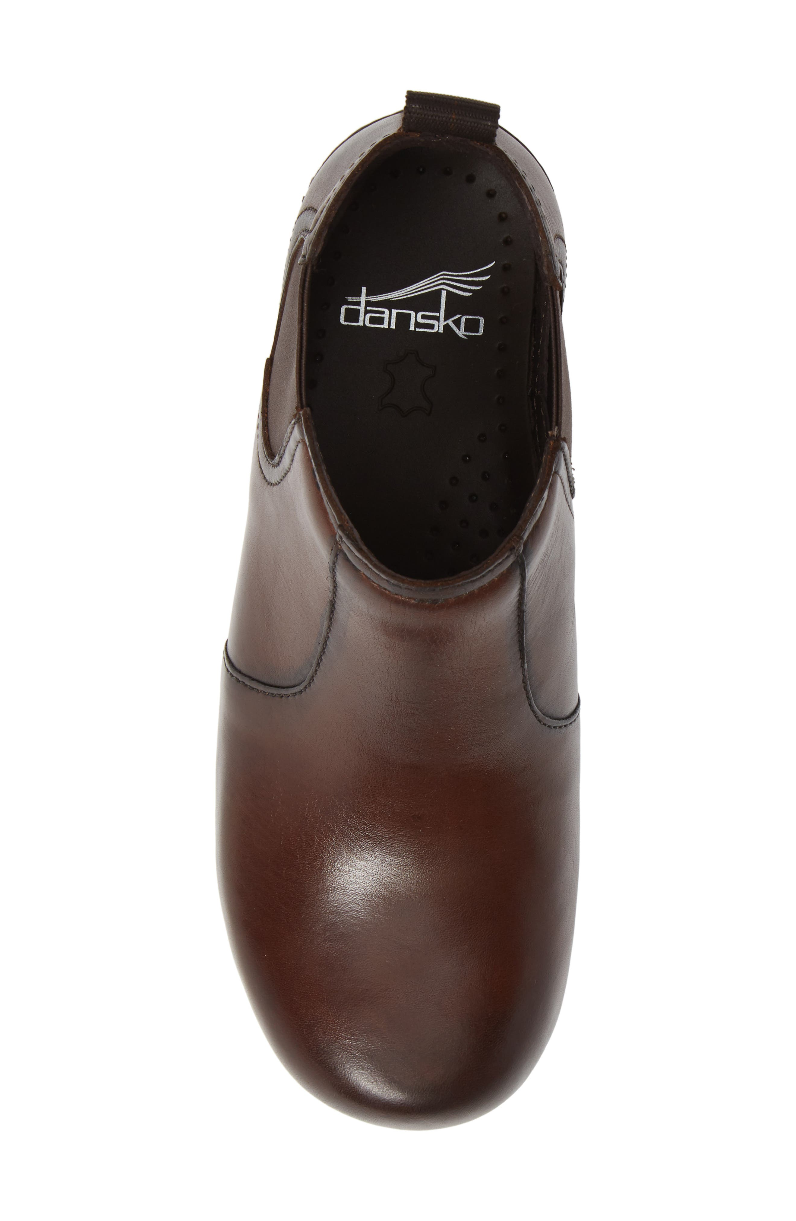 Frankie Bootie,                             Alternate thumbnail 5, color,                             BROWN LEATHER