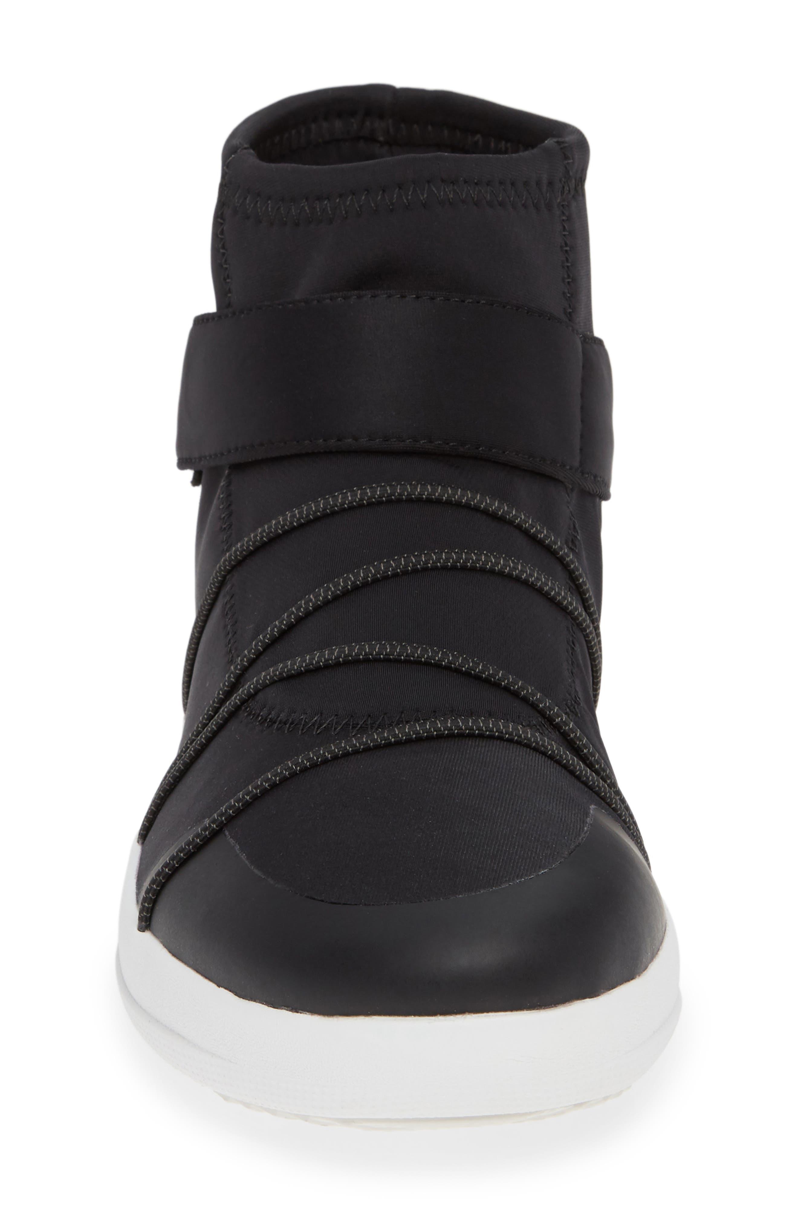 Neoflex High Top Sneaker,                             Alternate thumbnail 4, color,                             BLACK FABRIC