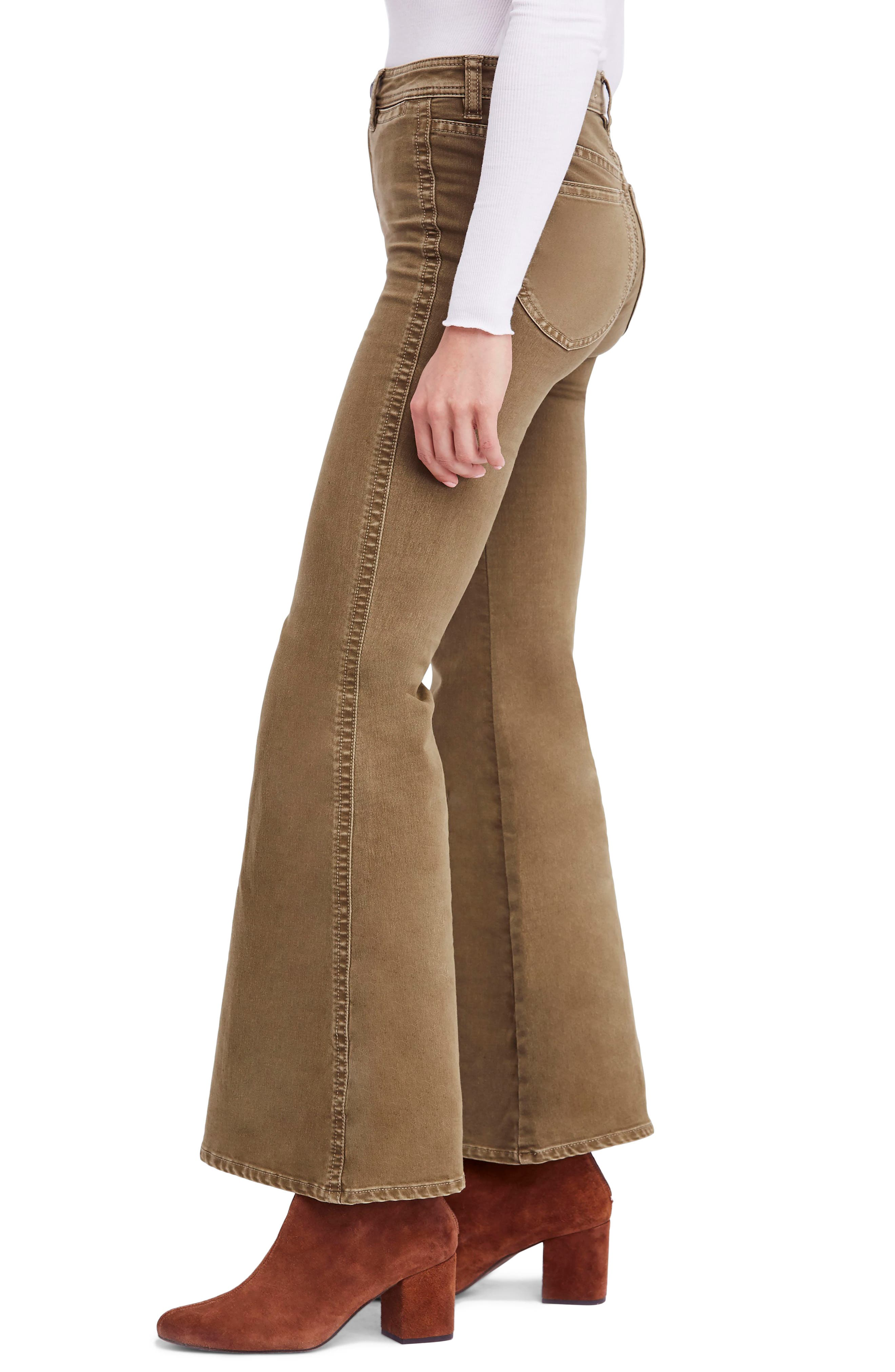 FREE PEOPLE,                             Brooke Flare Jeans,                             Alternate thumbnail 3, color,                             200