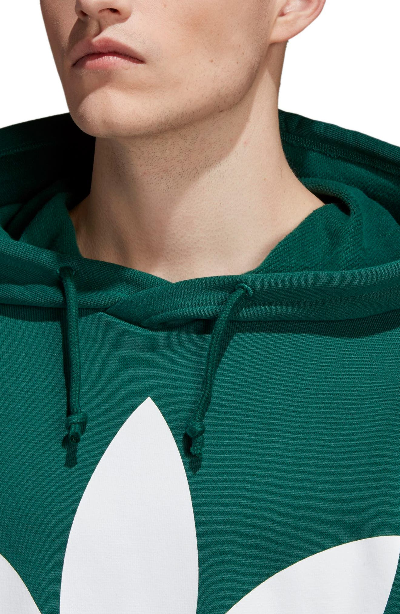 Trefoil Oversize Hoodie,                             Alternate thumbnail 4, color,                             305