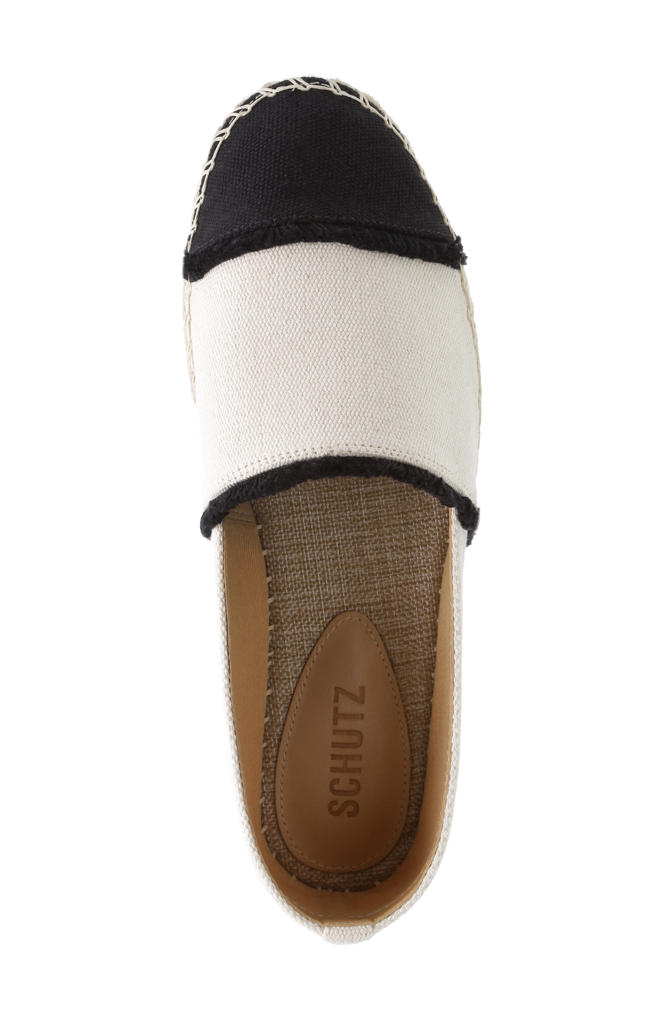 Ohanna Espadrille Flat,                             Alternate thumbnail 4, color,                             MULTI NEUTRO CANVAS