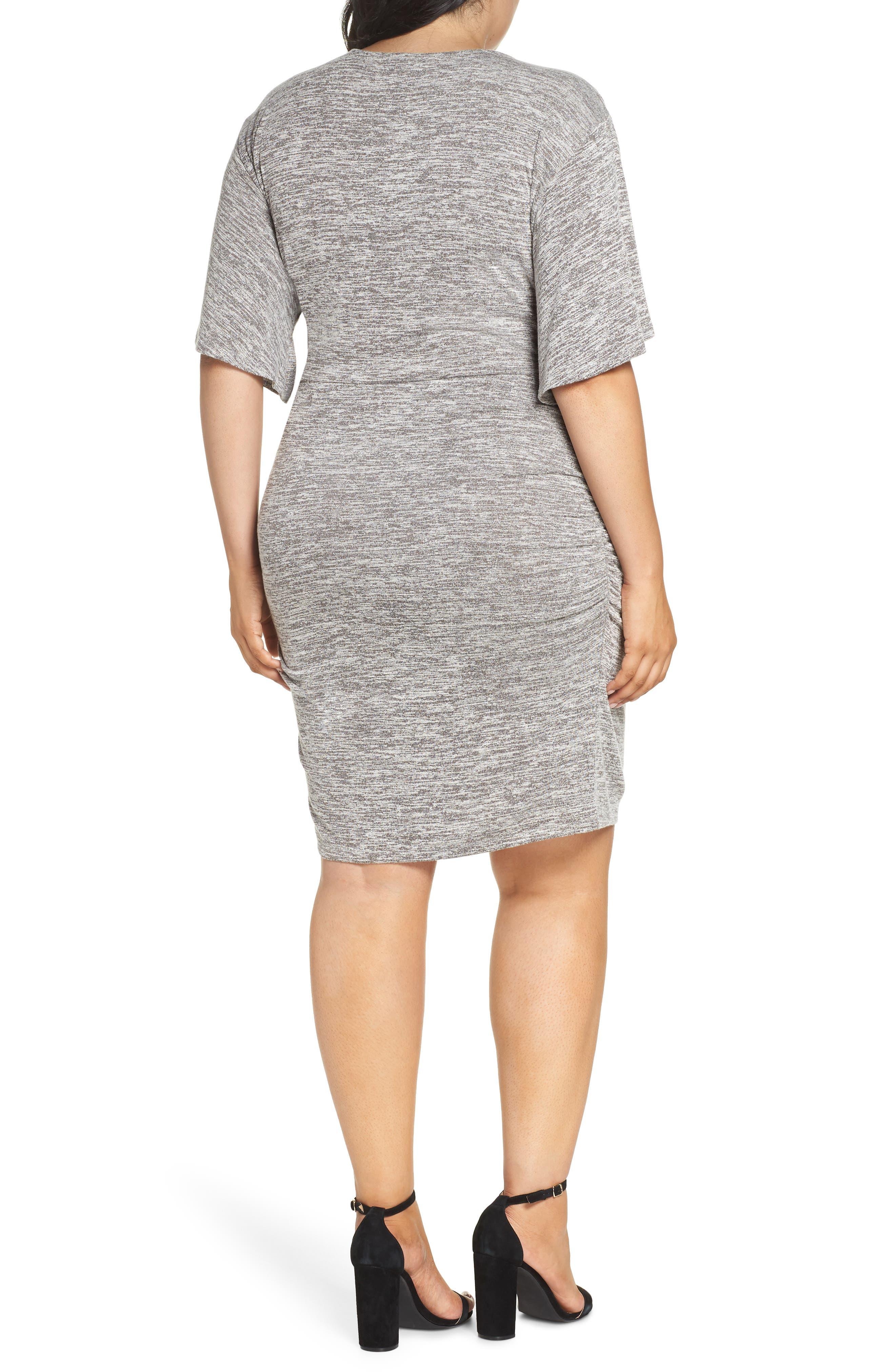 Wrap Dress,                             Alternate thumbnail 9, color,                             GREY CLOUDY HEATHER