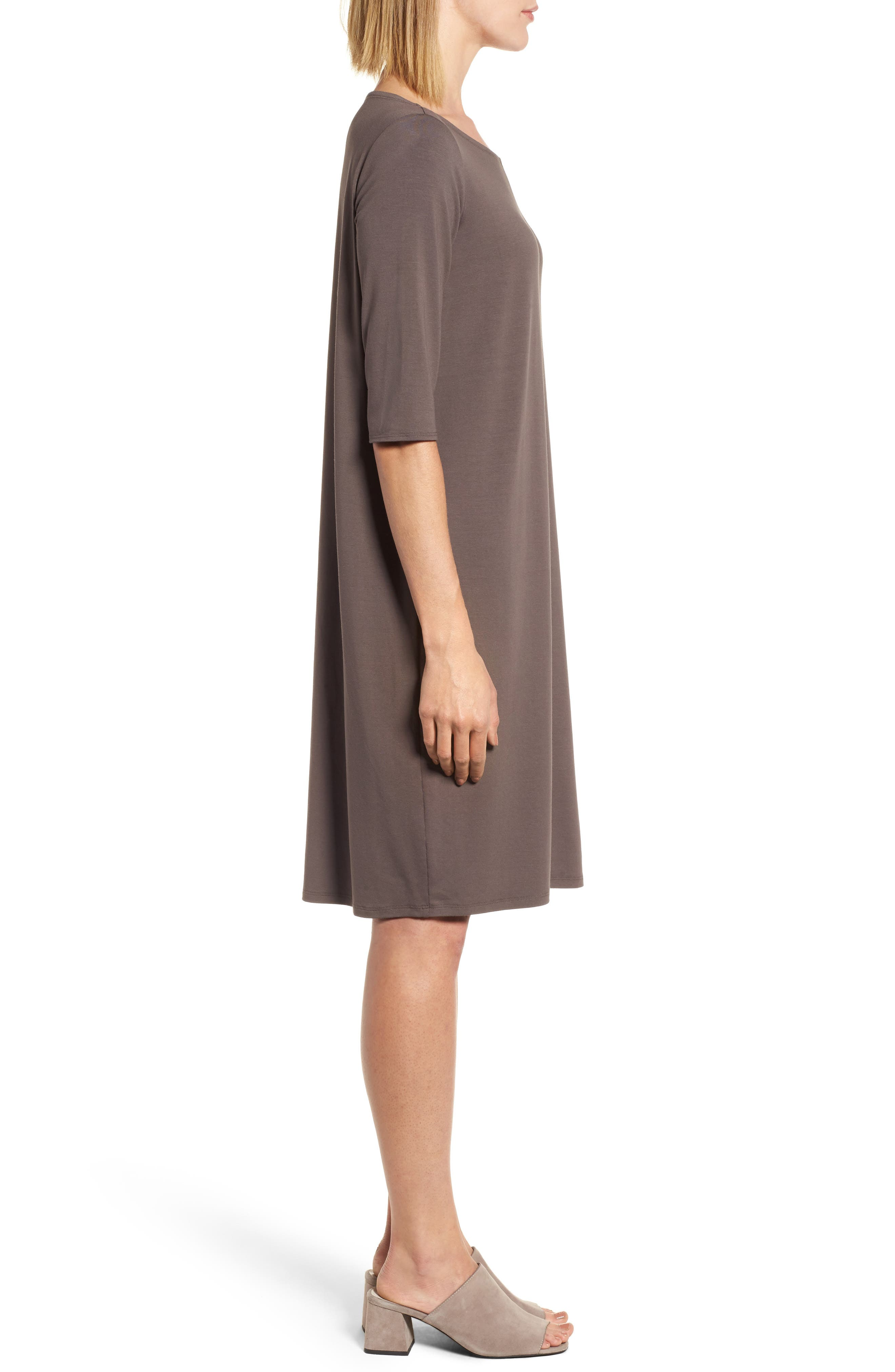 Jersey Shift Dress,                             Alternate thumbnail 8, color,