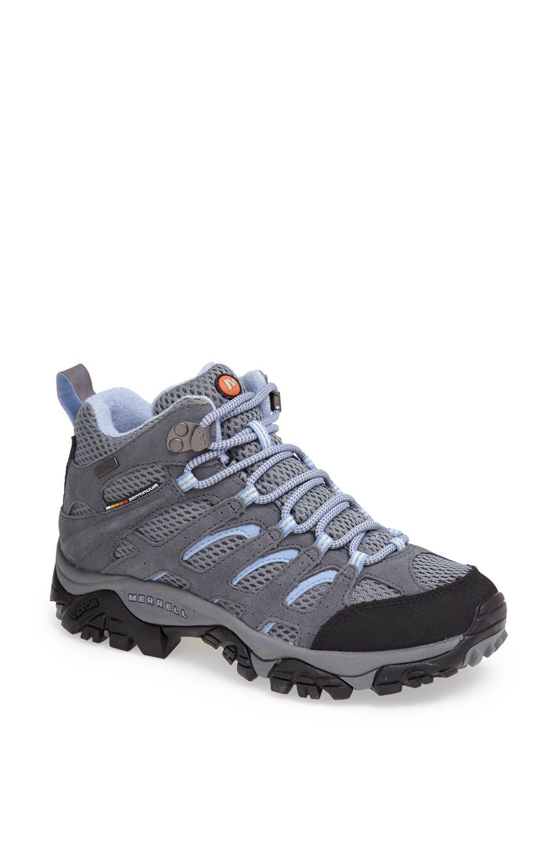 'Moab - Mid' Waterproof Hiking Boot,                             Main thumbnail 1, color,                             020