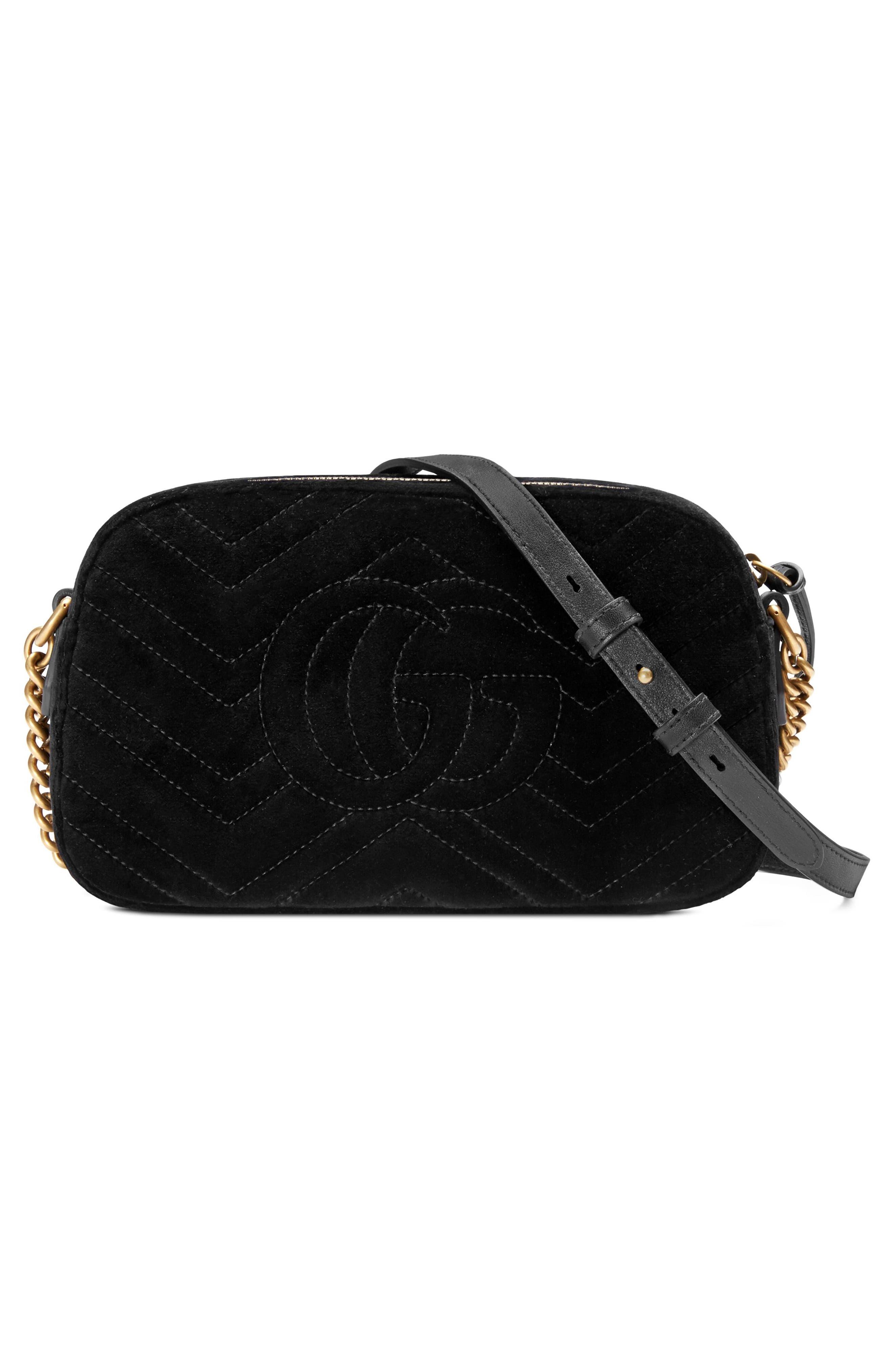 Small GG Marmont 2.0 Matelassé Velvet Shoulder Bag,                             Alternate thumbnail 2, color,                             001