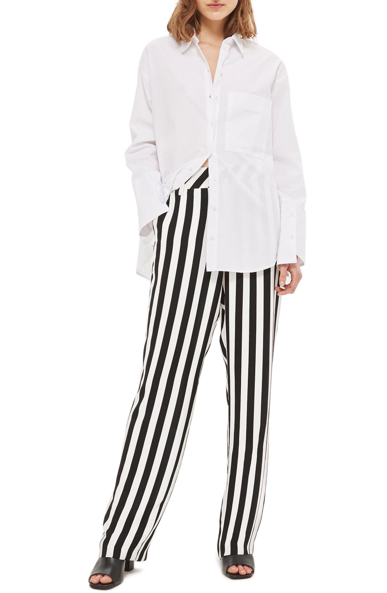 Humbug Stripe Trousers,                             Main thumbnail 1, color,                             001